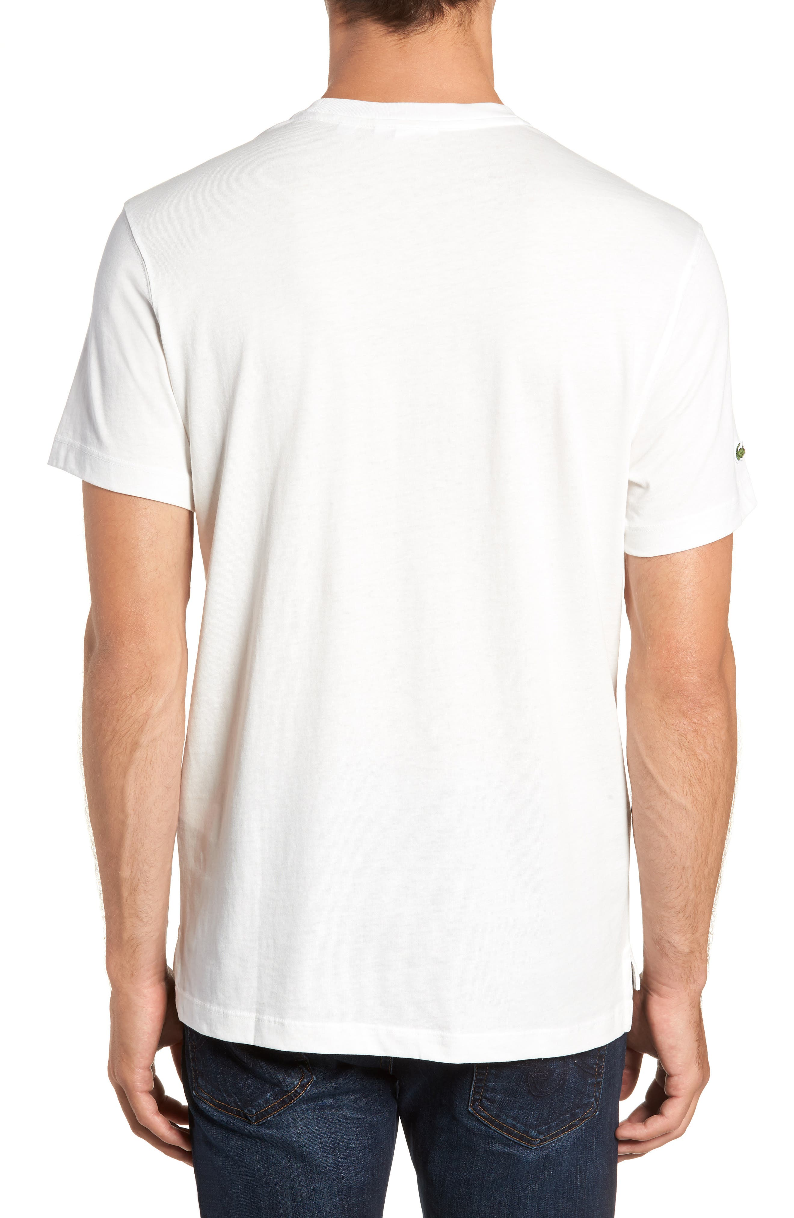 LACOSTE,                             Letter Graphic T-Shirt,                             Alternate thumbnail 2, color,                             104