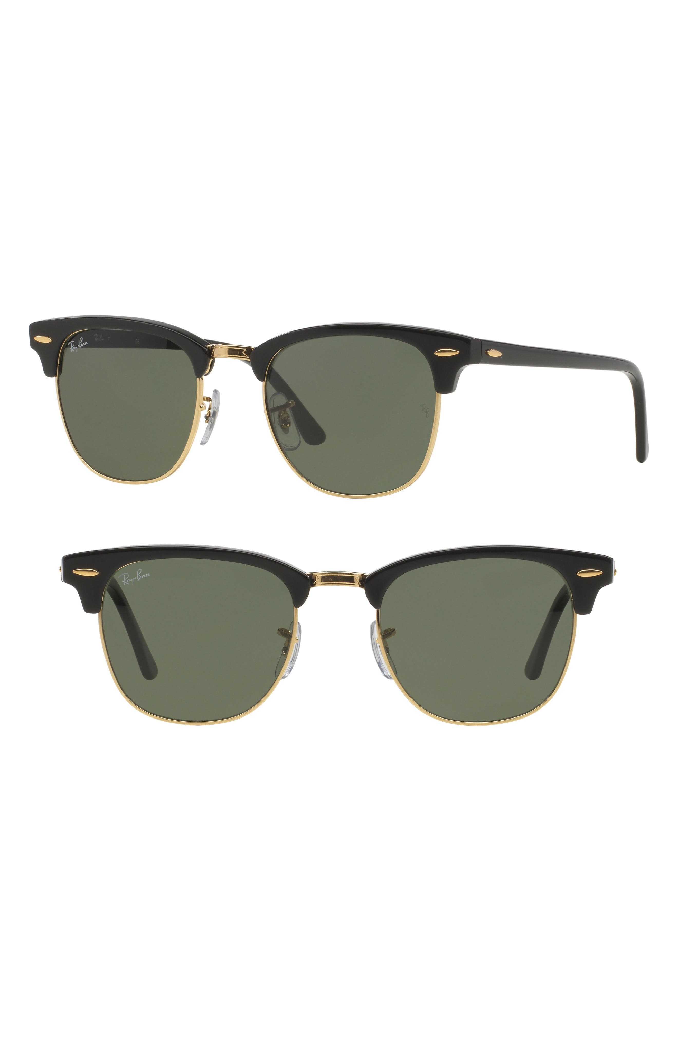 'Clubmaster' 49mm Sunglasses,                             Main thumbnail 1, color,                             001