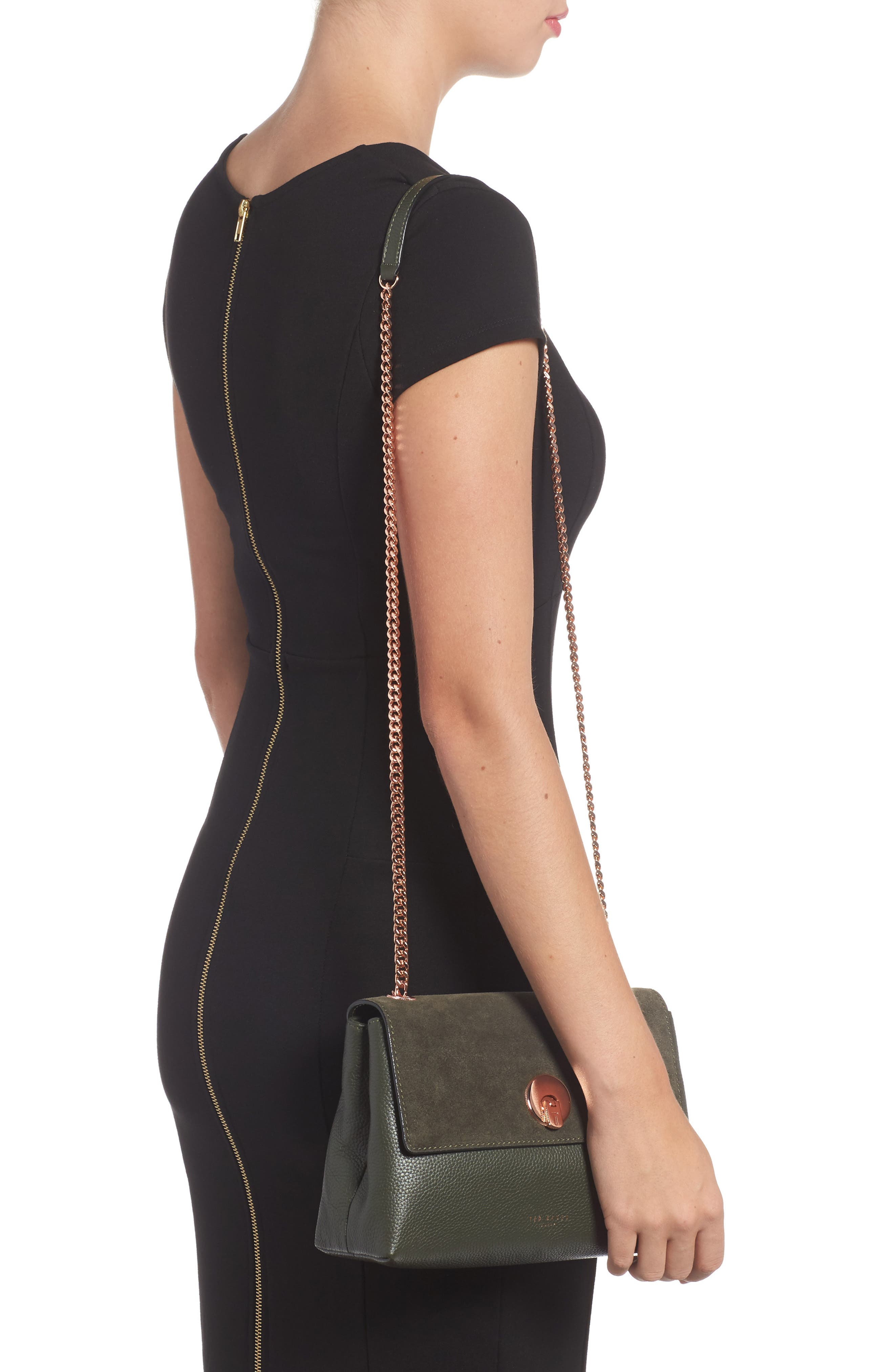 Sorikai Leather & Suede Crossbody Bag,                             Alternate thumbnail 2, color,                             312