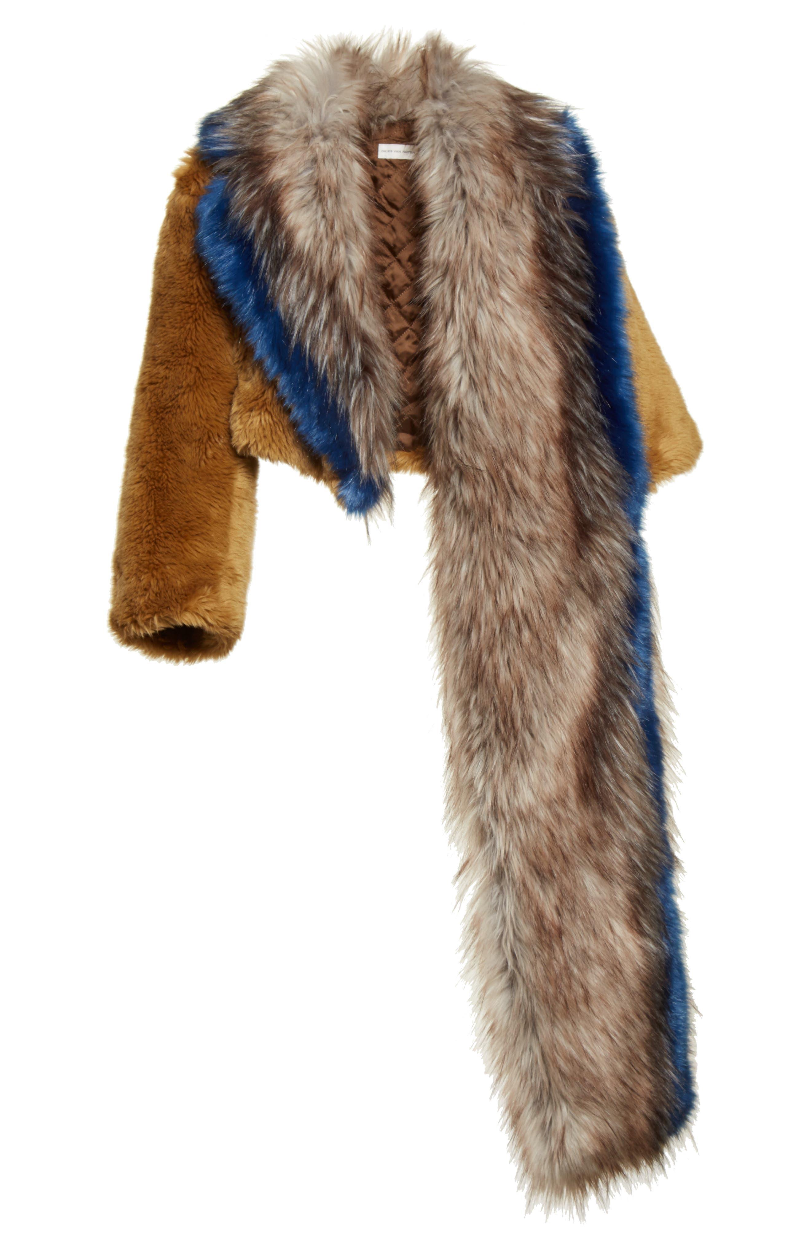 Faux Fur Asymmetrical Shrug,                             Alternate thumbnail 2, color,                             250