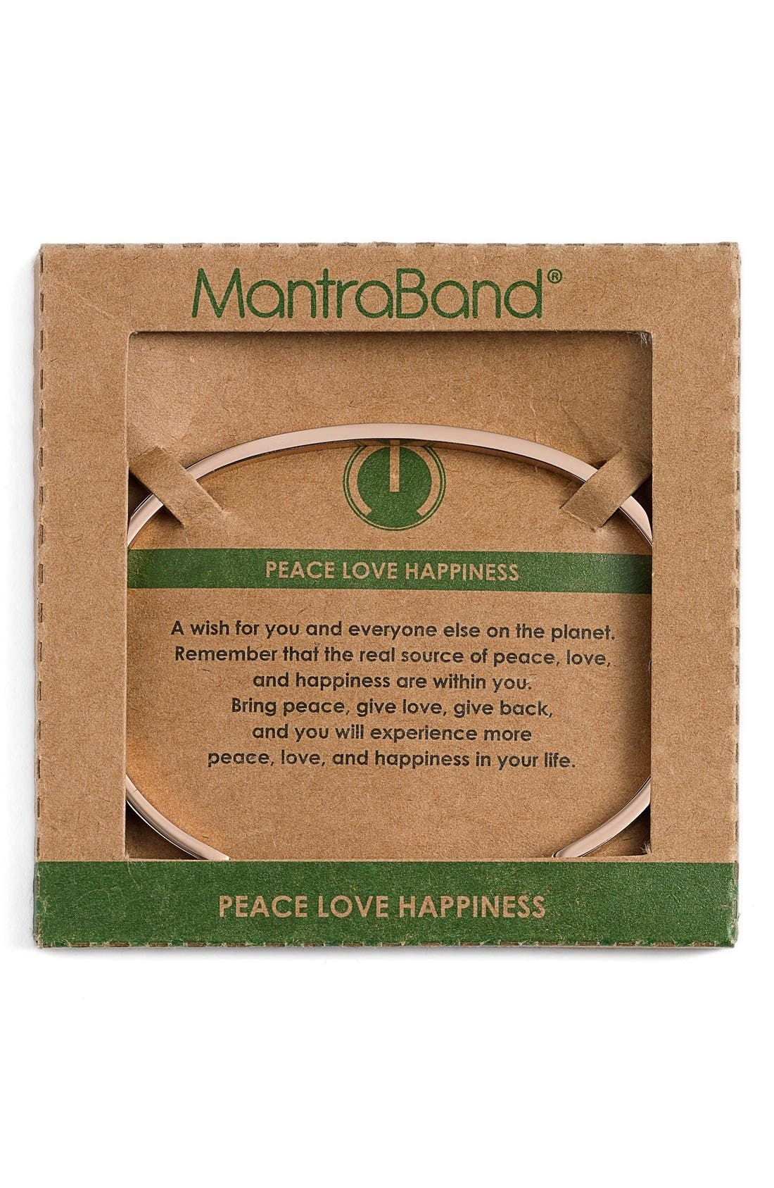 """""""Peace Love Happiness"""" Cuff,                             Alternate thumbnail 5, color,"""