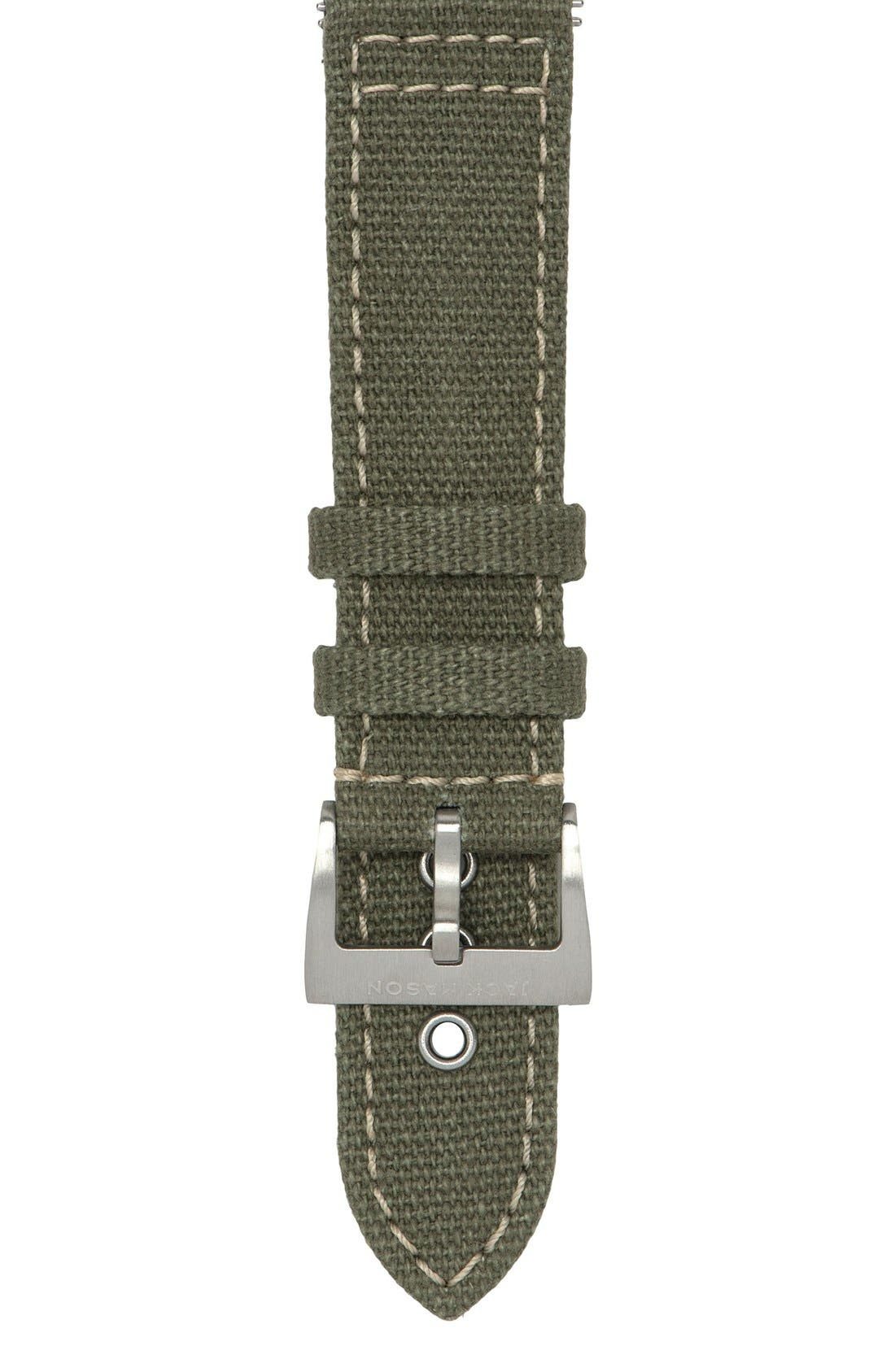 Canvas Watch Strap, 22mm,                         Main,                         color, 330