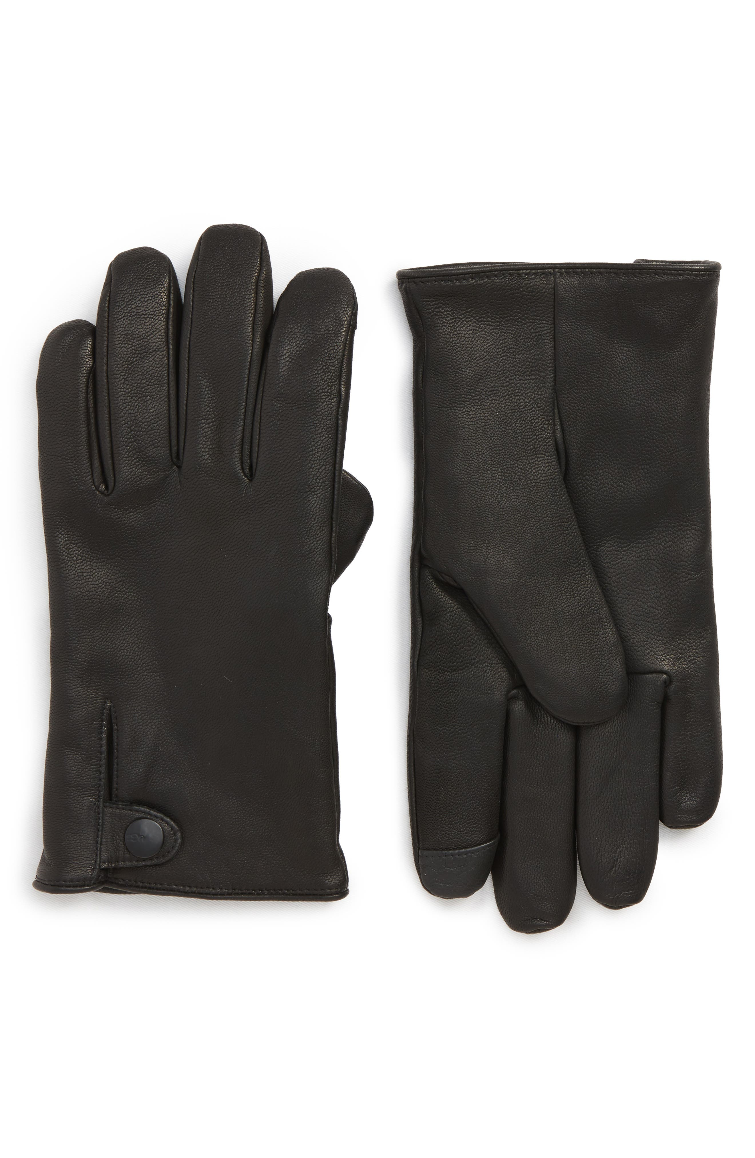 Vintage Men's Accessories Mens Ugg Leather Gloves Size X-Large - Black $95.00 AT vintagedancer.com