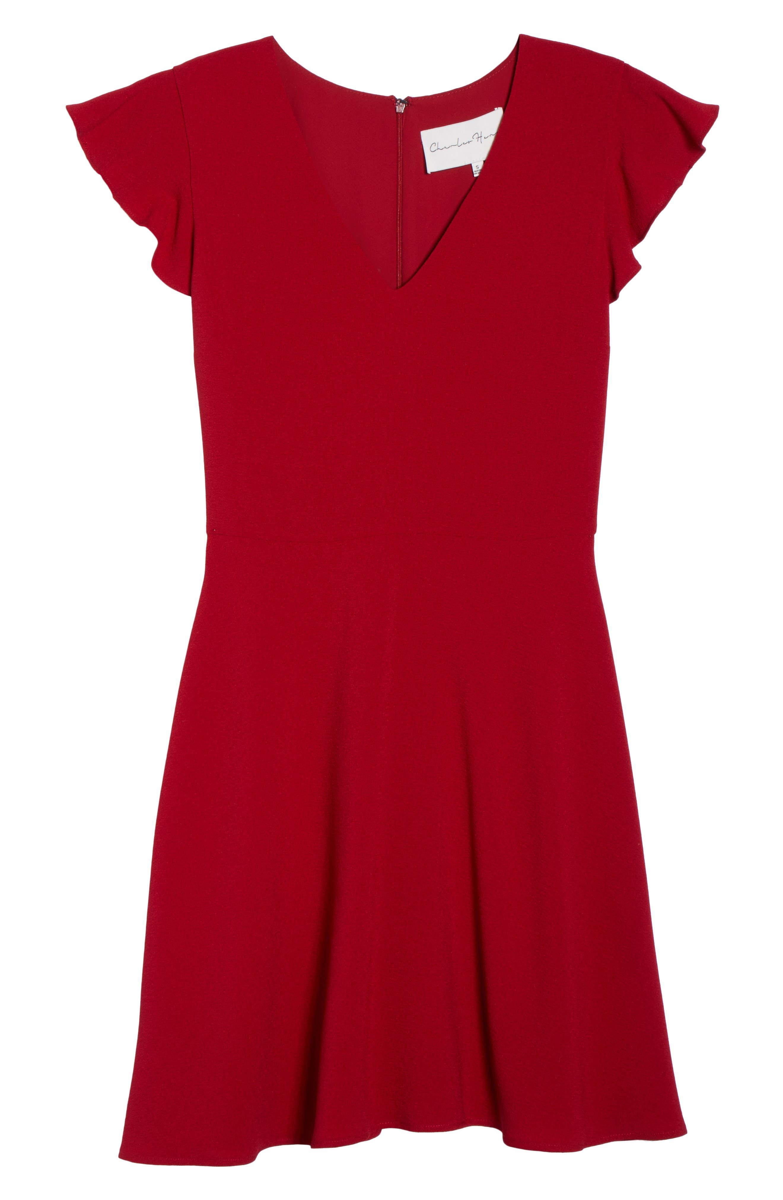 Fit & Flare Dress,                             Alternate thumbnail 6, color,                             930