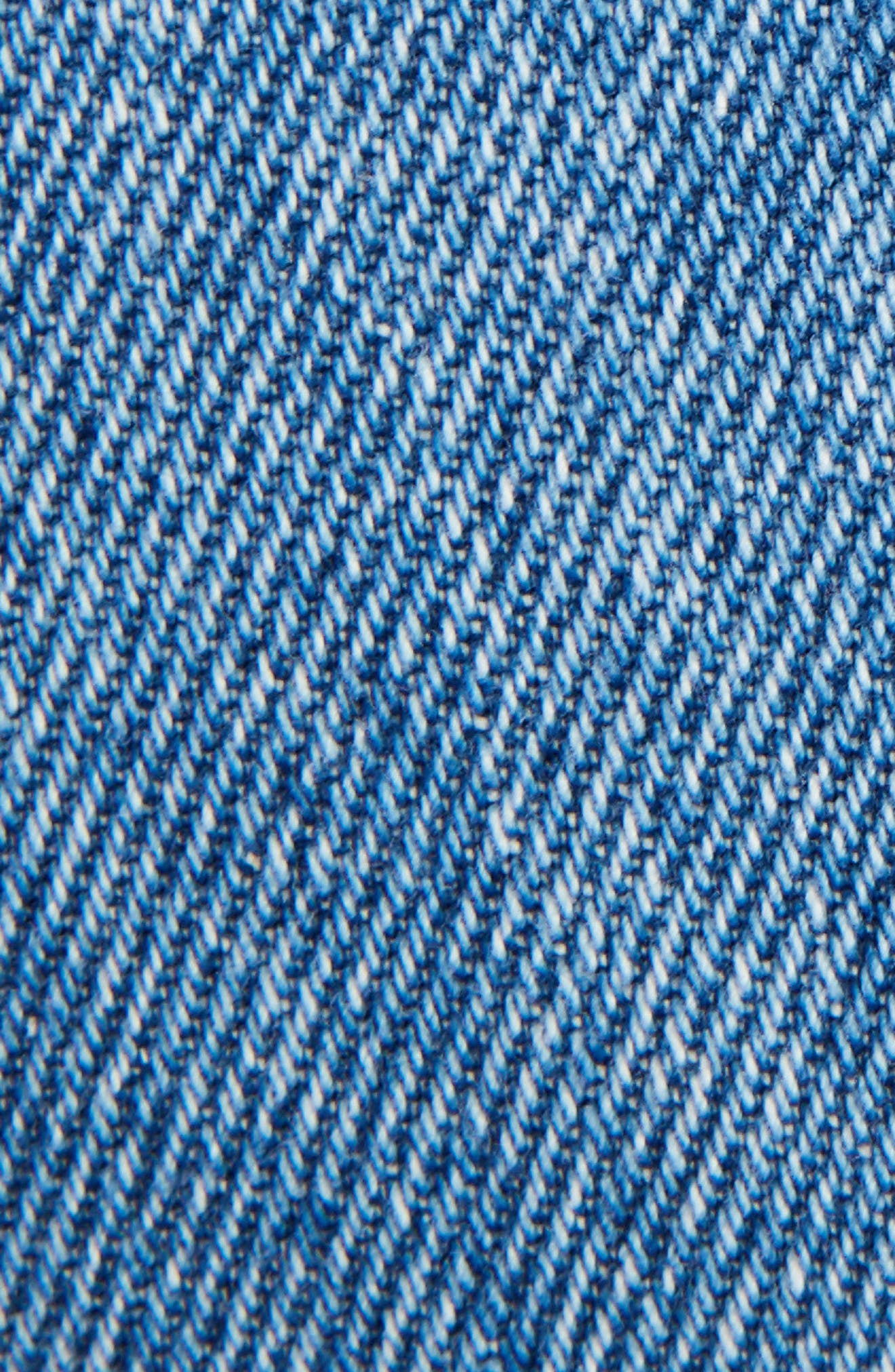 Fisherman Cuffed Jeans,                             Alternate thumbnail 5, color,                             BLUE