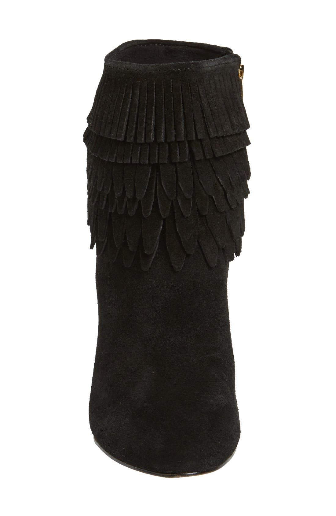 'Layton' Fringe Bootie,                             Alternate thumbnail 3, color,                             001
