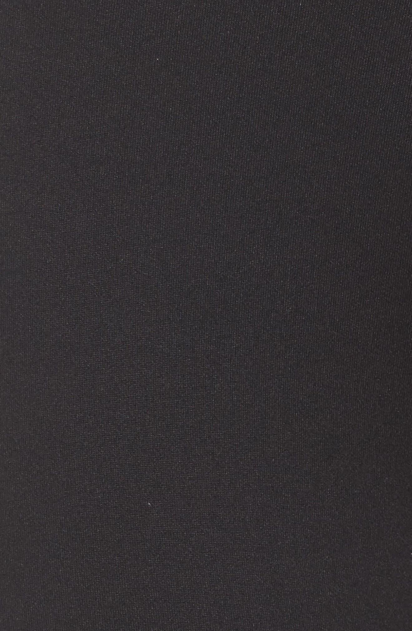 Perfomer Climalite<sup>®</sup> High Rise Capri Leggings,                             Alternate thumbnail 6, color,                             001