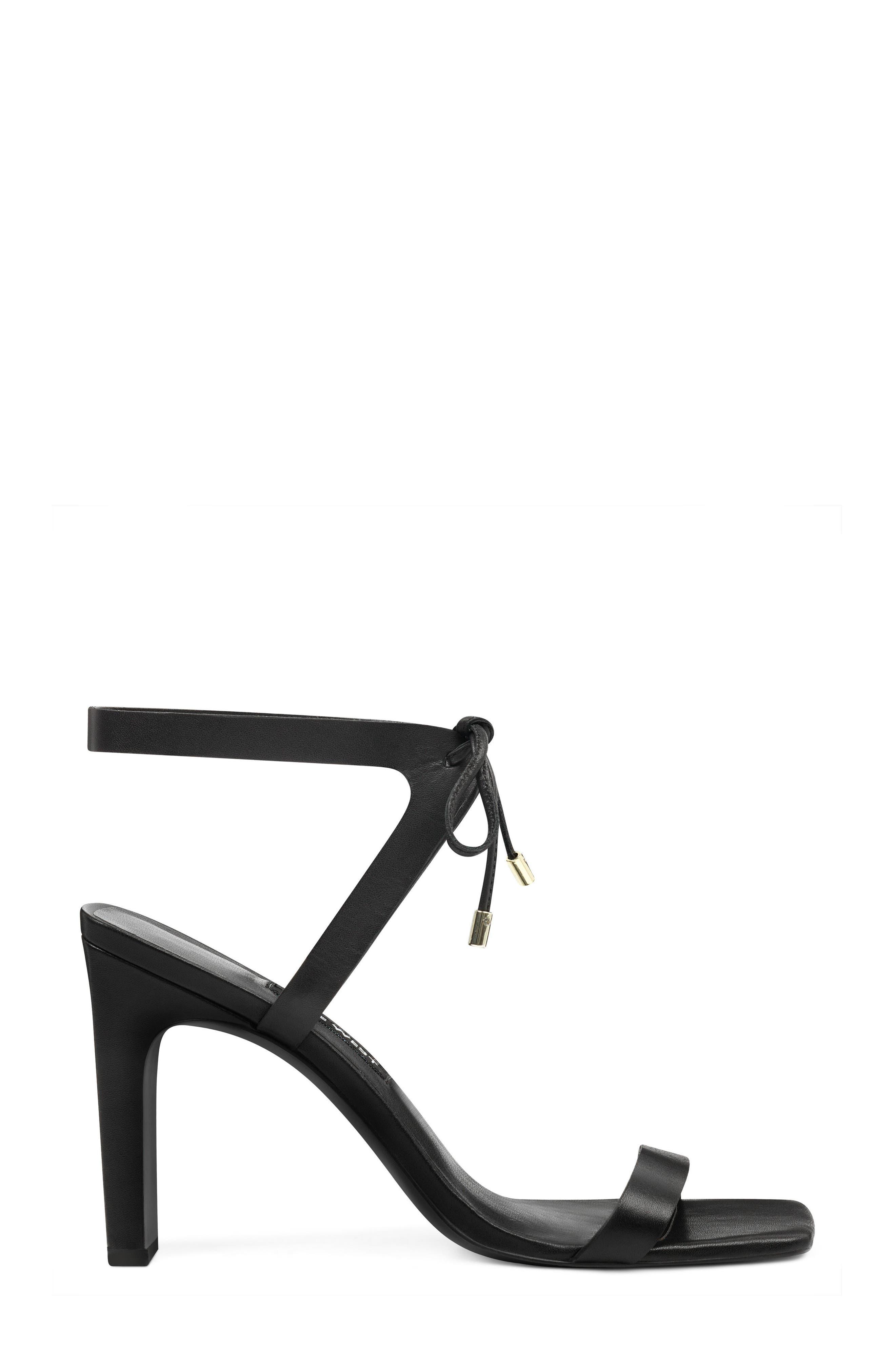 Longitano Squared Toe Sandal,                             Alternate thumbnail 3, color,                             BLACK LEATHER