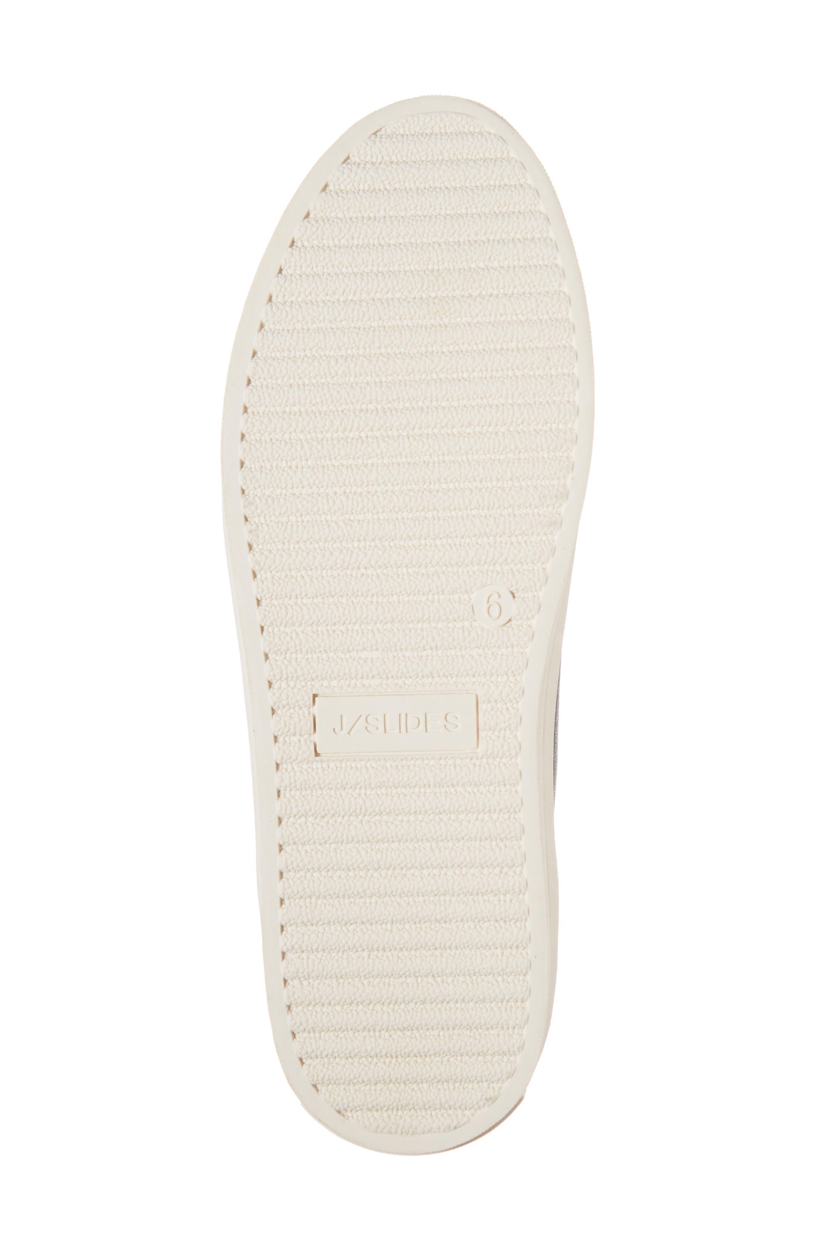 JSLIDES,                             Heidi Platform Slip-On Sneaker,                             Alternate thumbnail 6, color,                             BLACK LEATHER