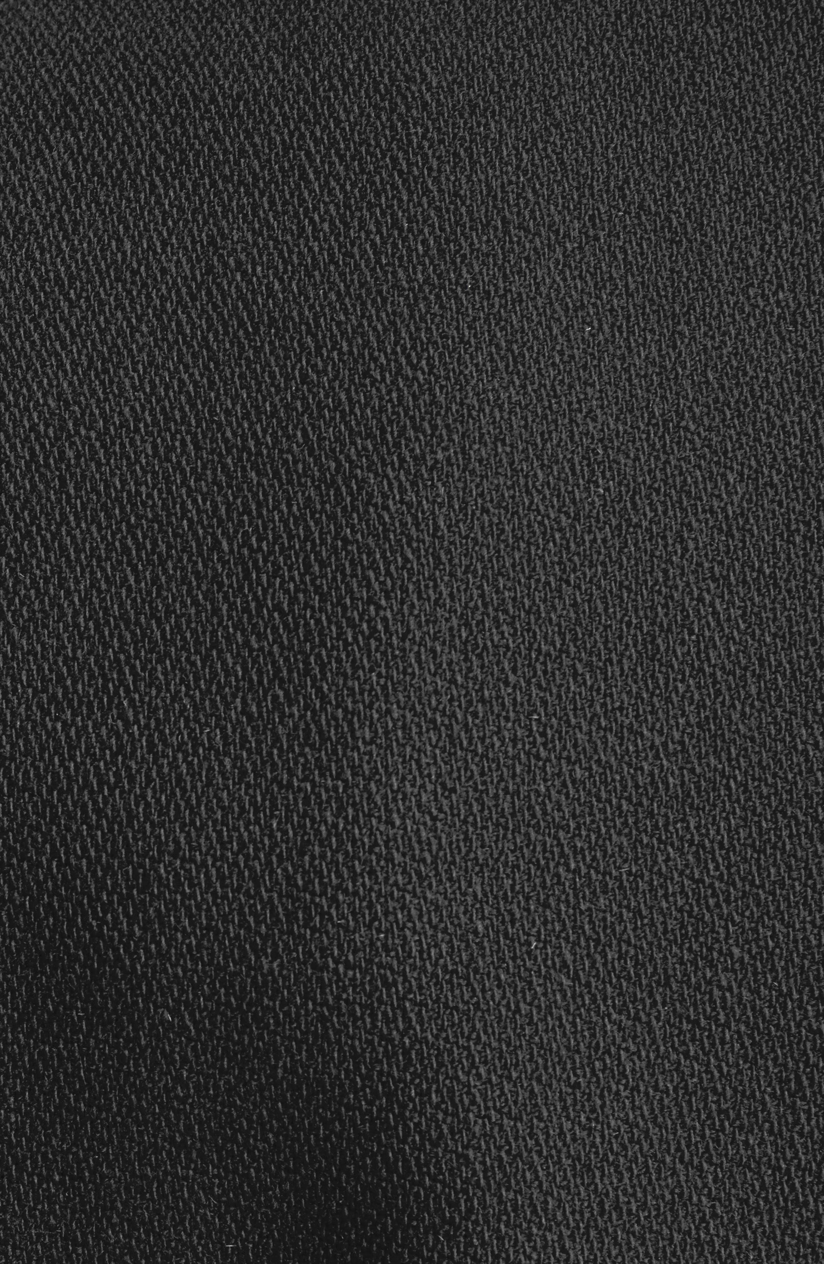 Teddy Wool Varsity Jacket,                             Alternate thumbnail 5, color,                             BLACK