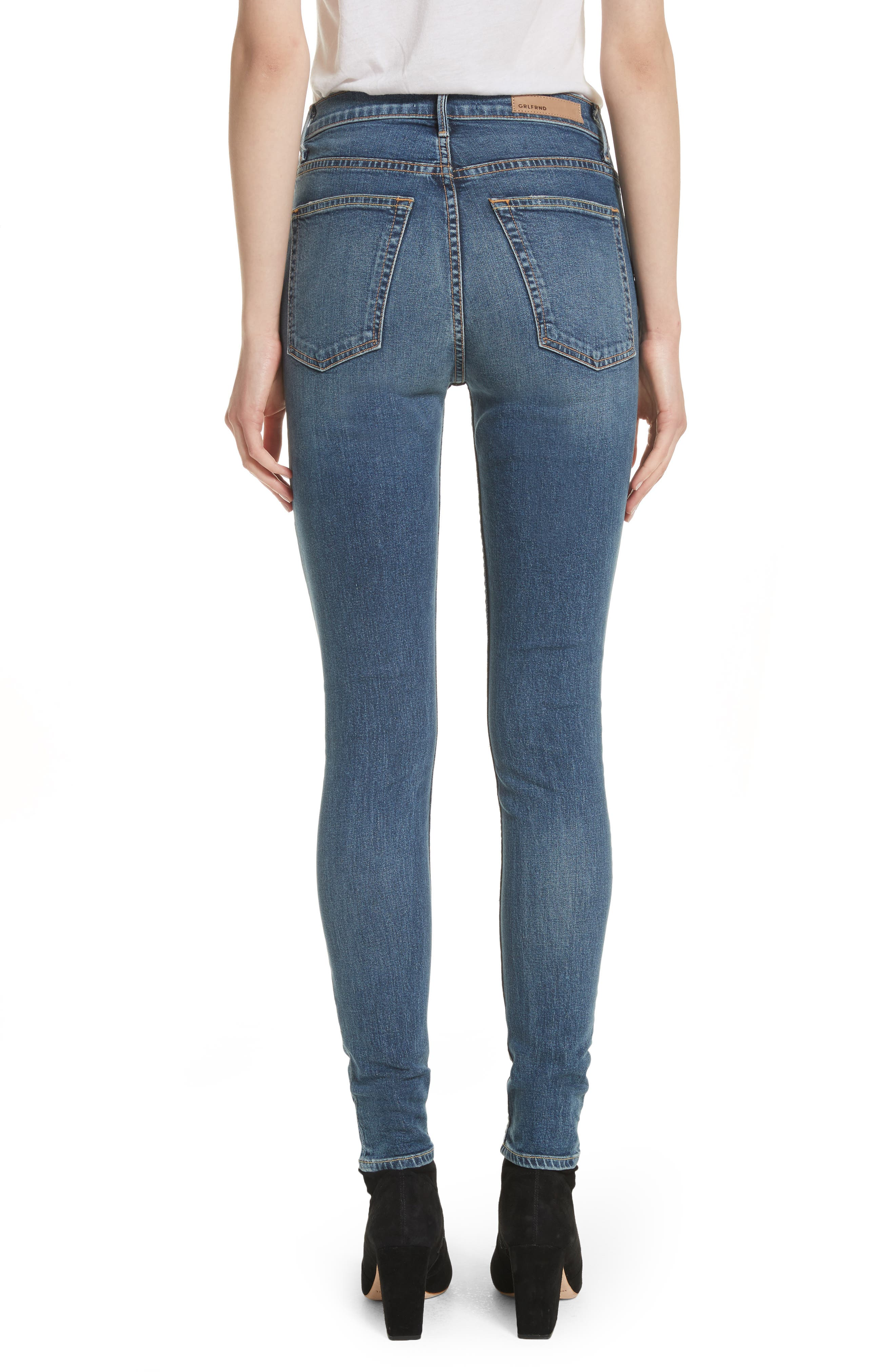 Kendall Super Stretch High Waist Skinny Jeans,                             Alternate thumbnail 2, color,                             NO MORE TEARS