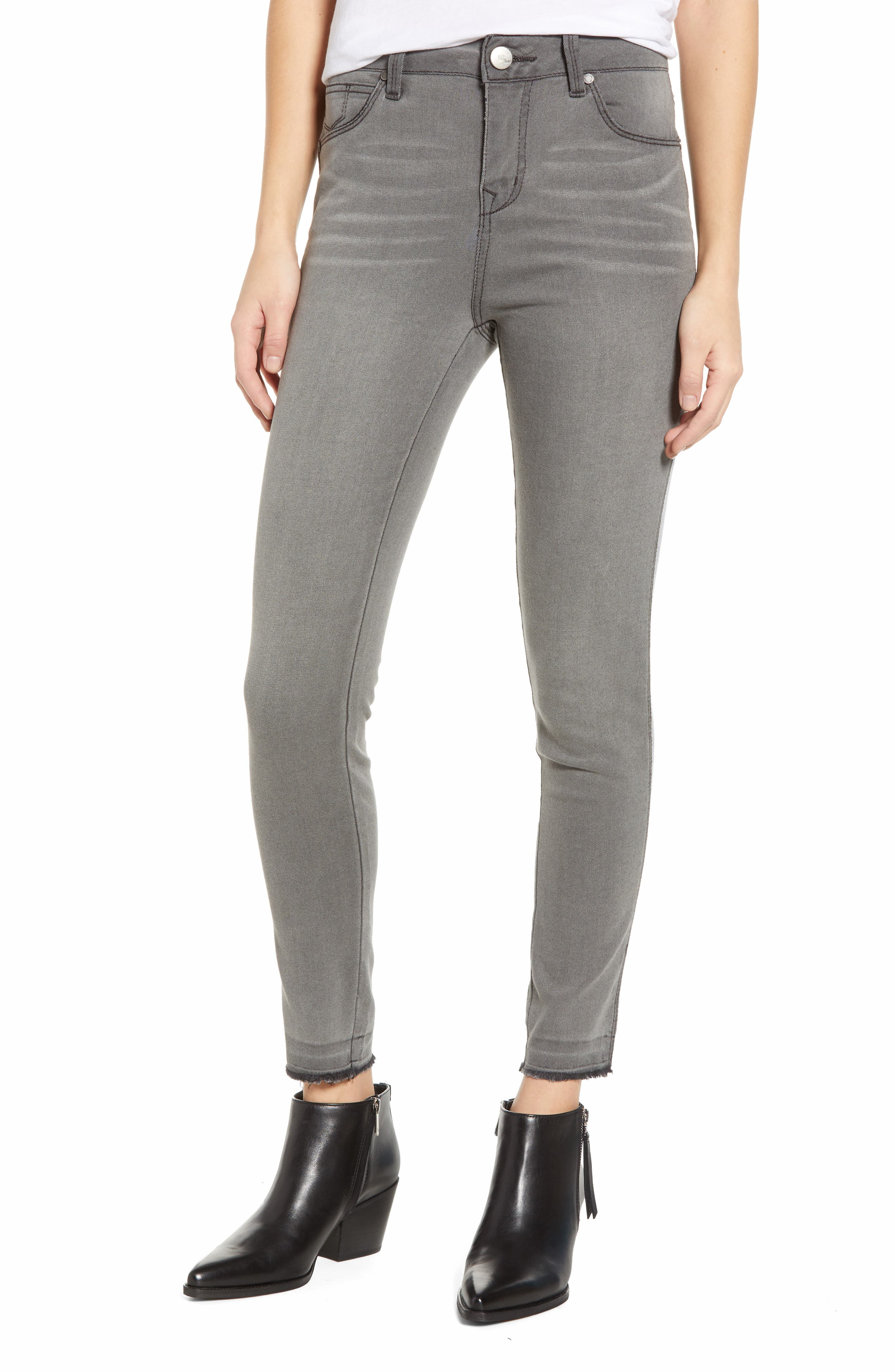 High Waist Ankle Skinny Jeans, Main, color, ASHLEY