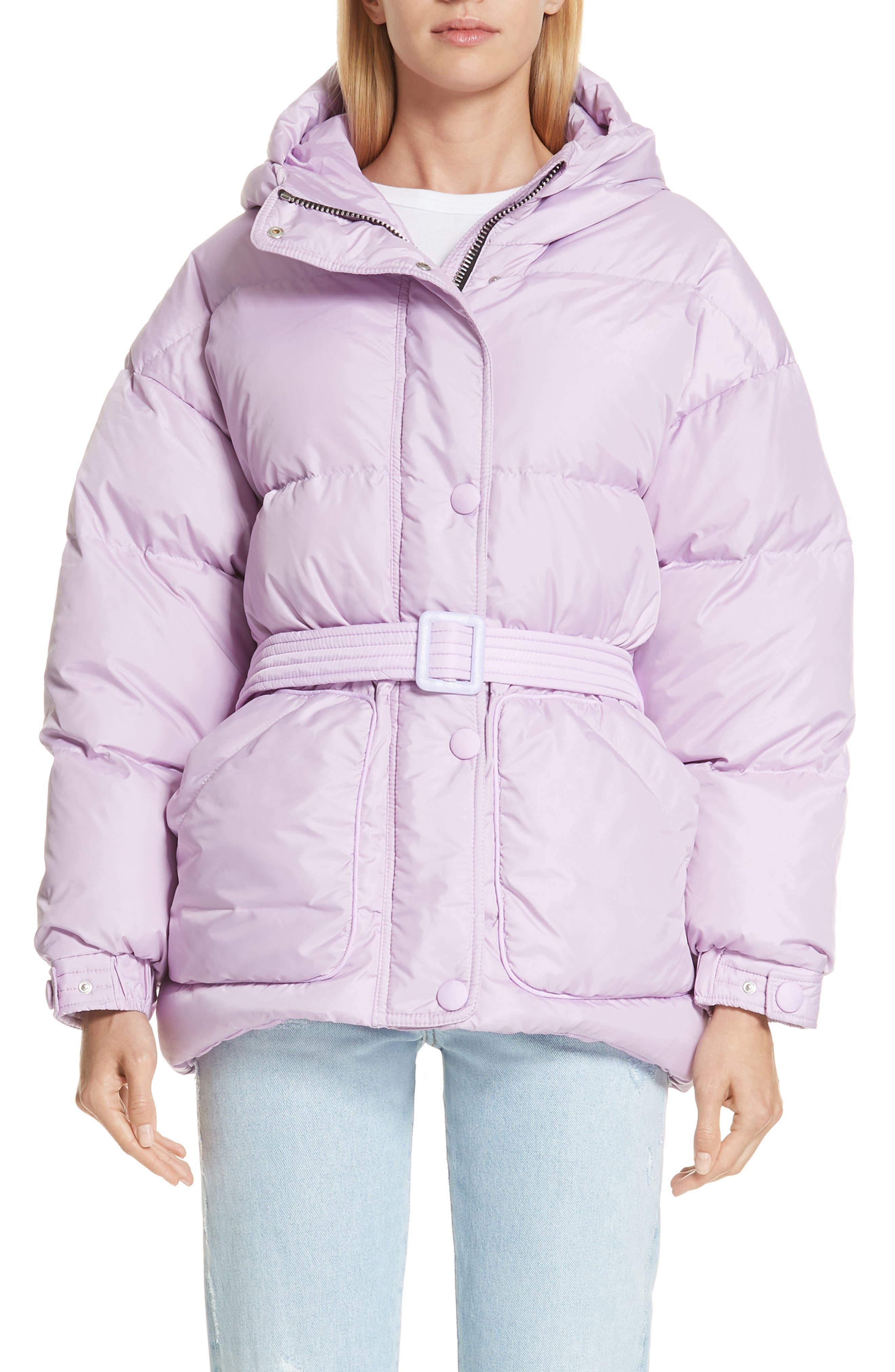 Ienki Ienki Michelin Hooded Down Puffer Coat, Purple
