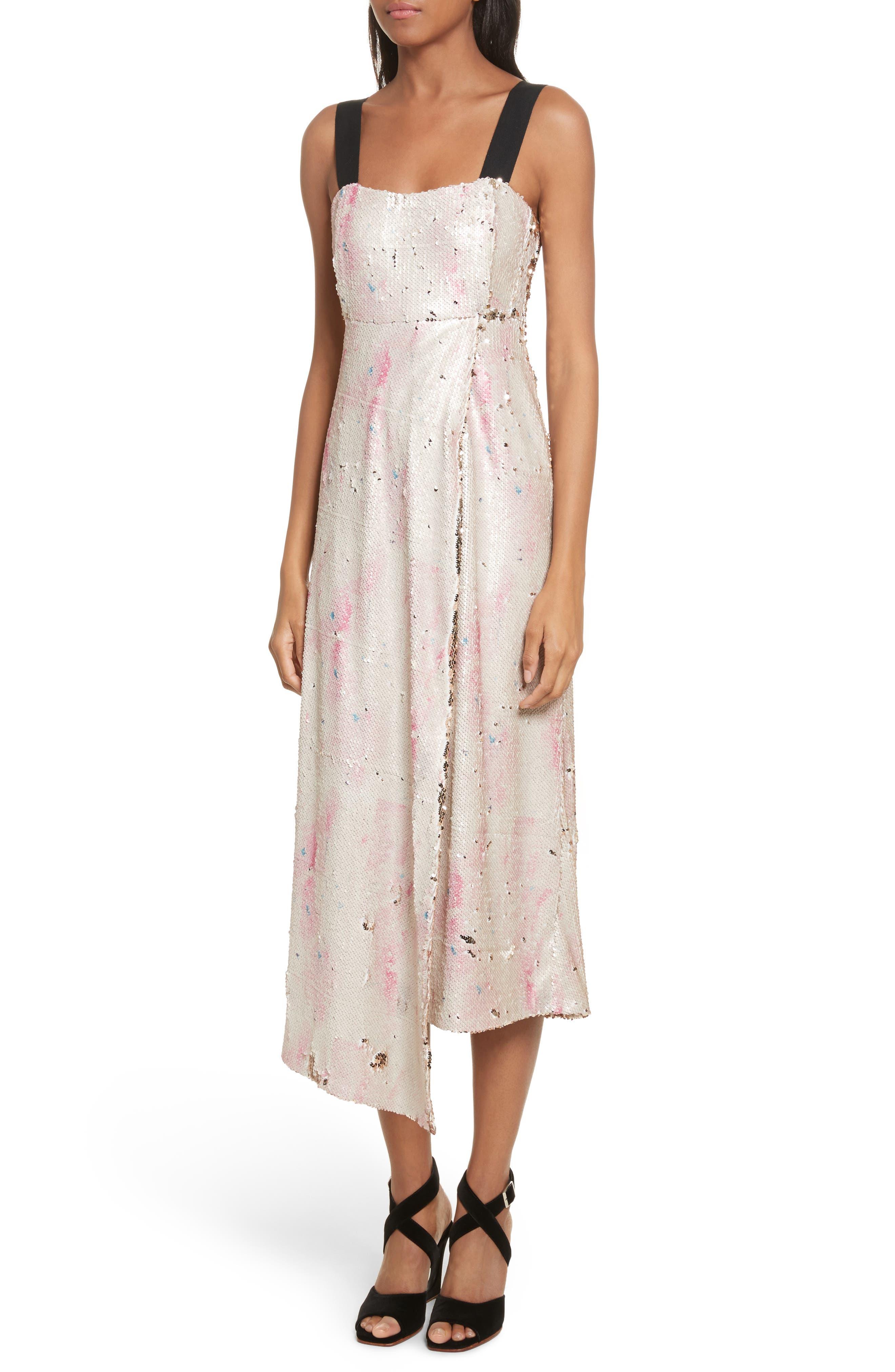 Slacken Sequined Dress,                             Alternate thumbnail 4, color,                             658