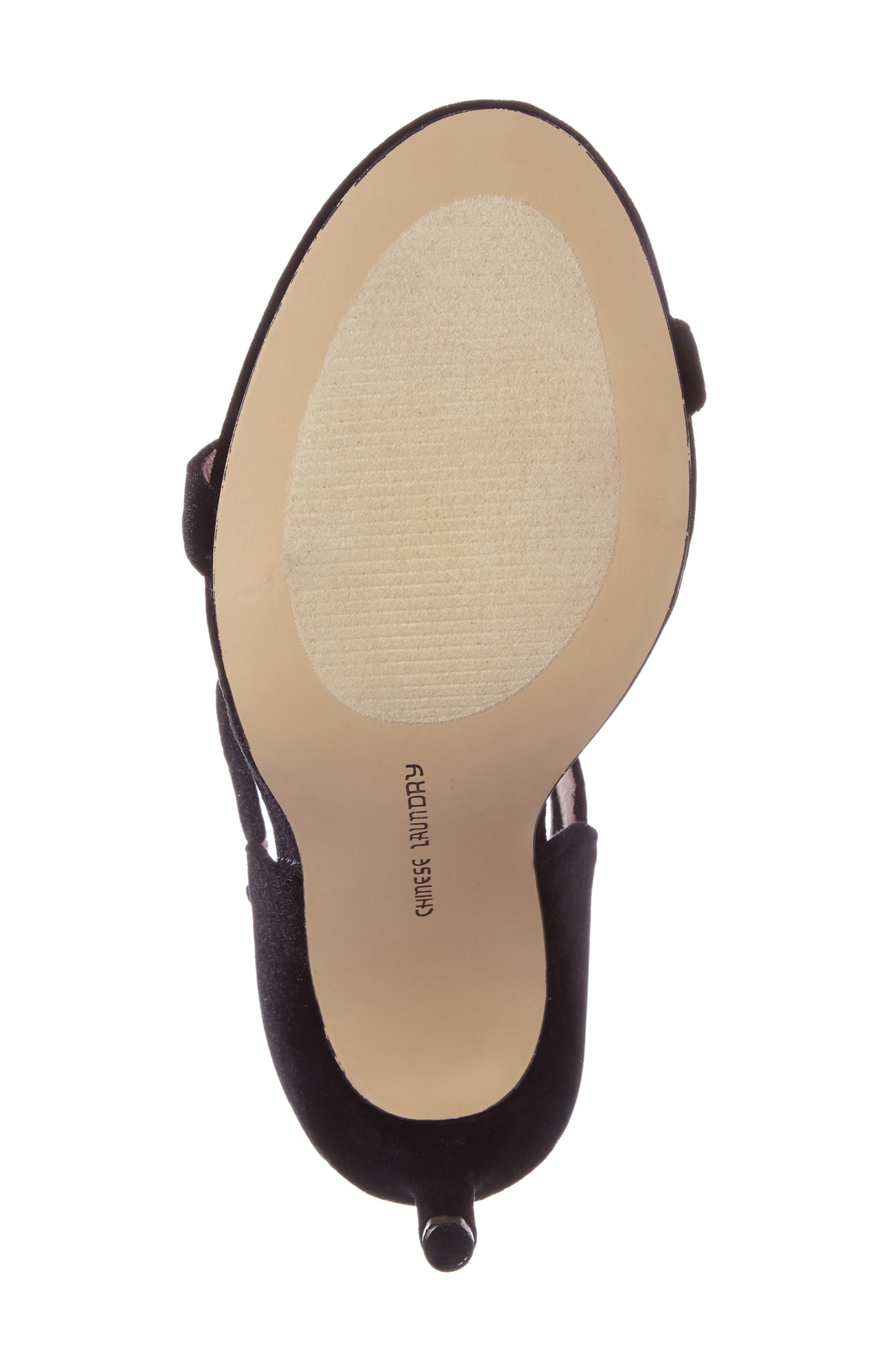 Lavelle Ankle Strap Sandal,                             Alternate thumbnail 5, color,                             001