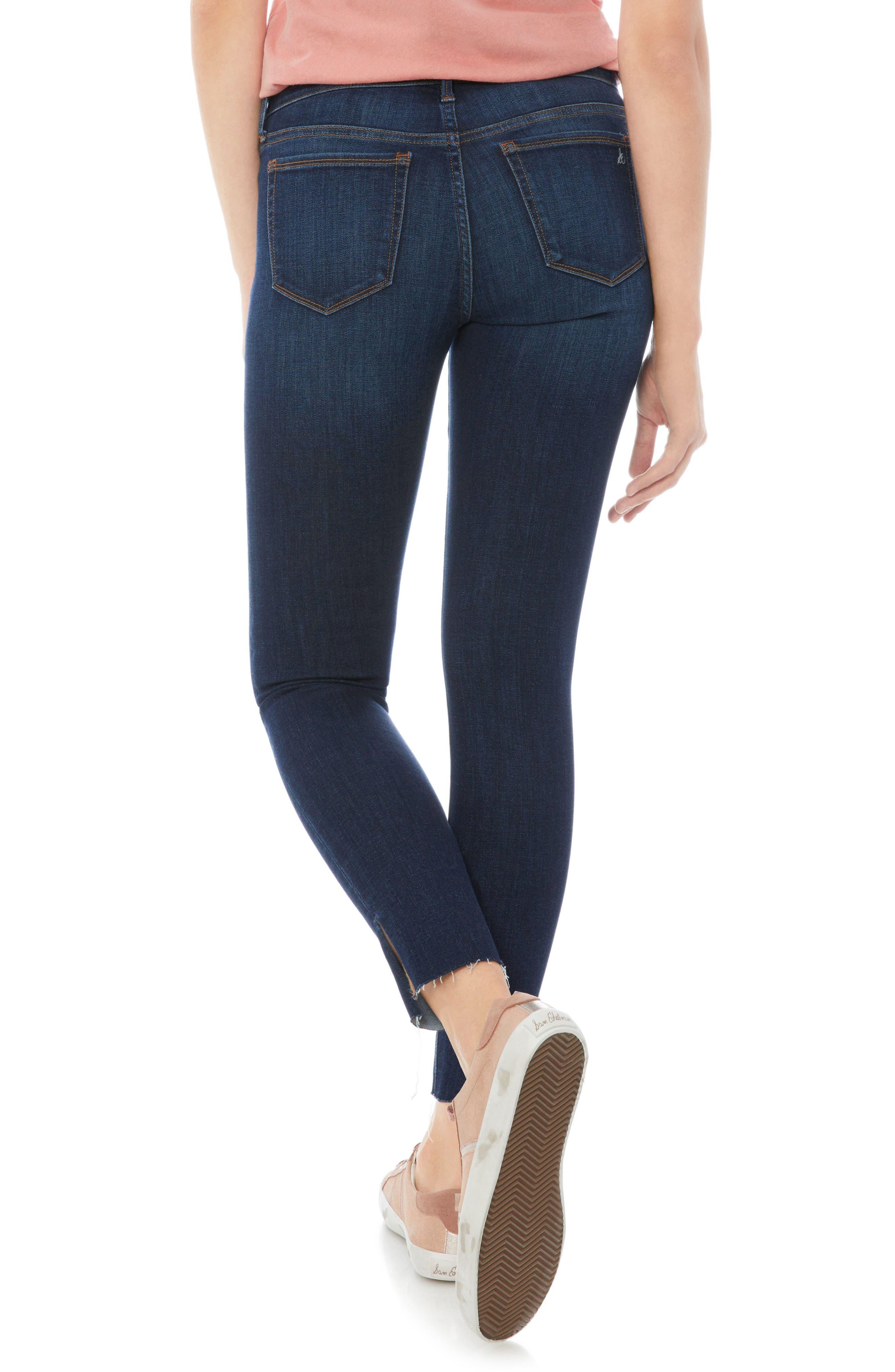 The Kitten Side Slit Skinny Jeans,                             Alternate thumbnail 2, color,                             JACOB
