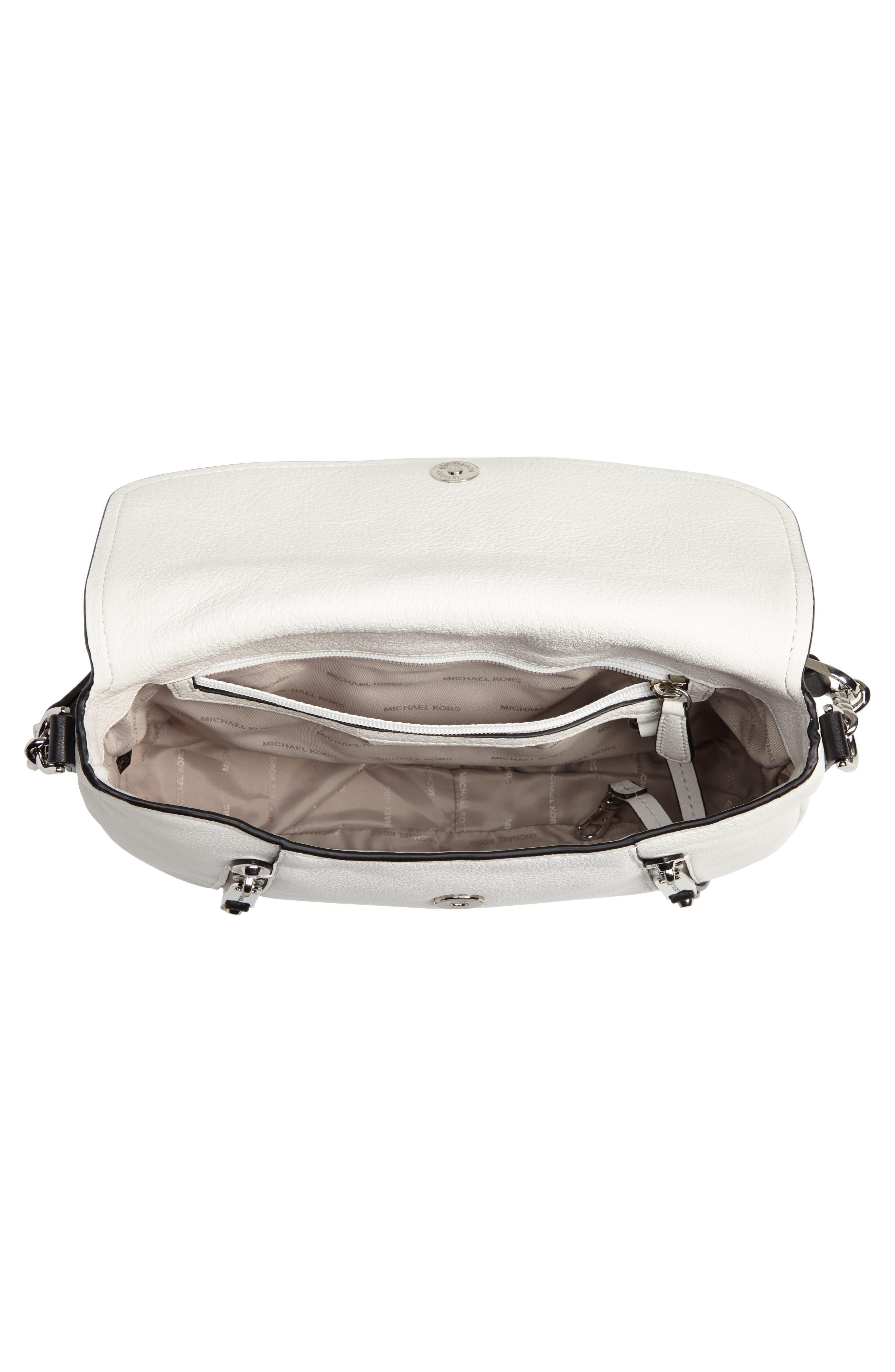 Medium Leather Shoulder Bag,                             Alternate thumbnail 8, color,