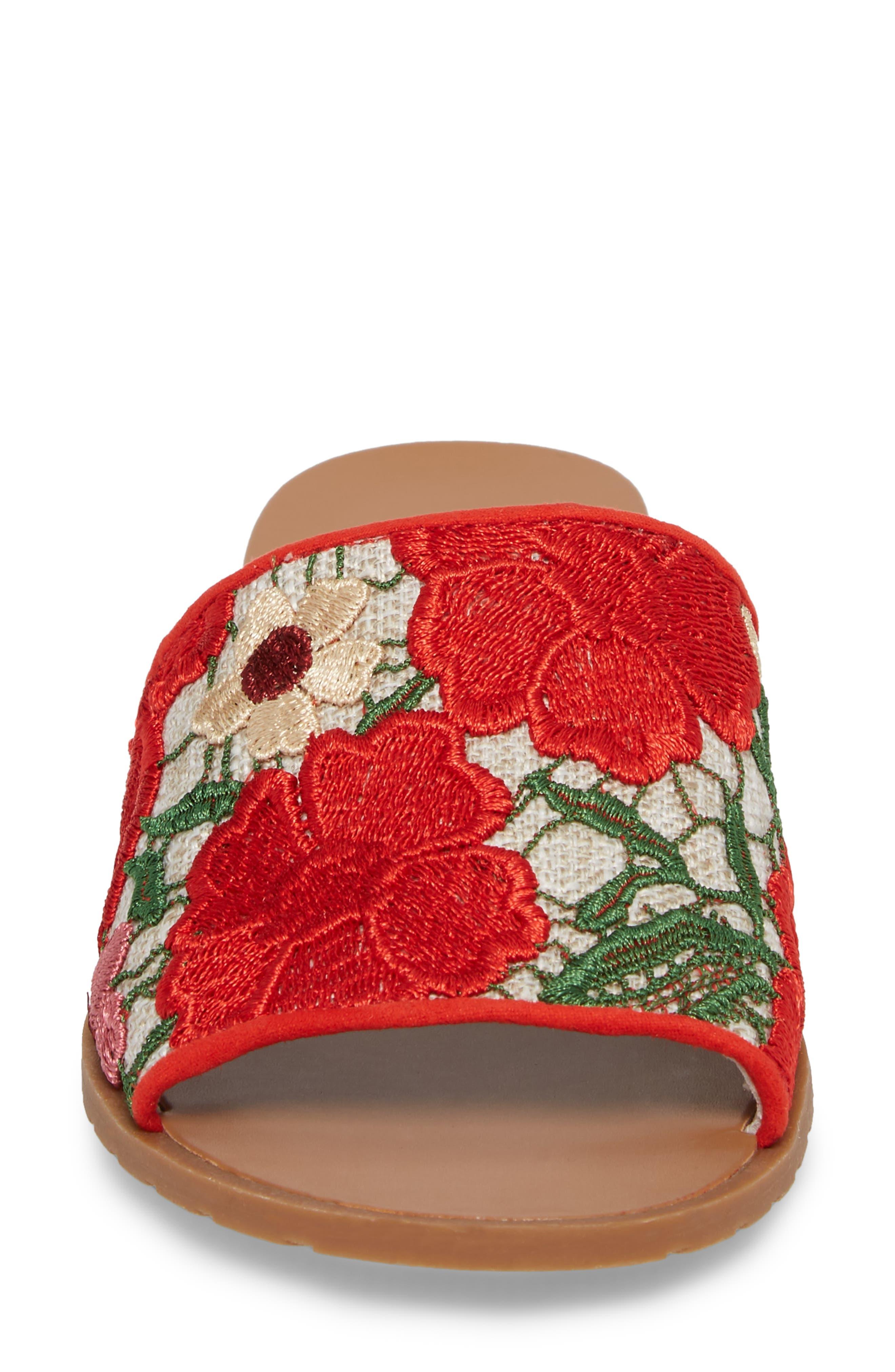 Joanne Flower Embroidered Slide Sandal,                             Alternate thumbnail 27, color,