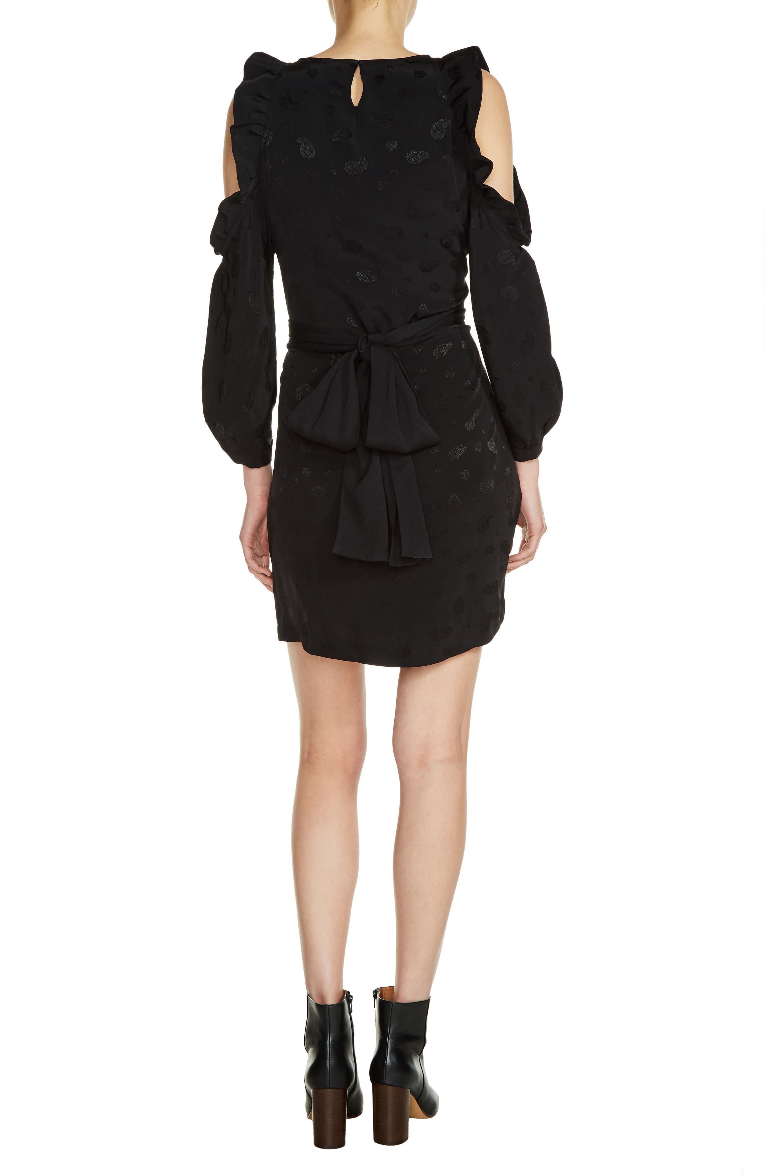 Bow Back Cold Shoulder Dress,                             Alternate thumbnail 2, color,                             001