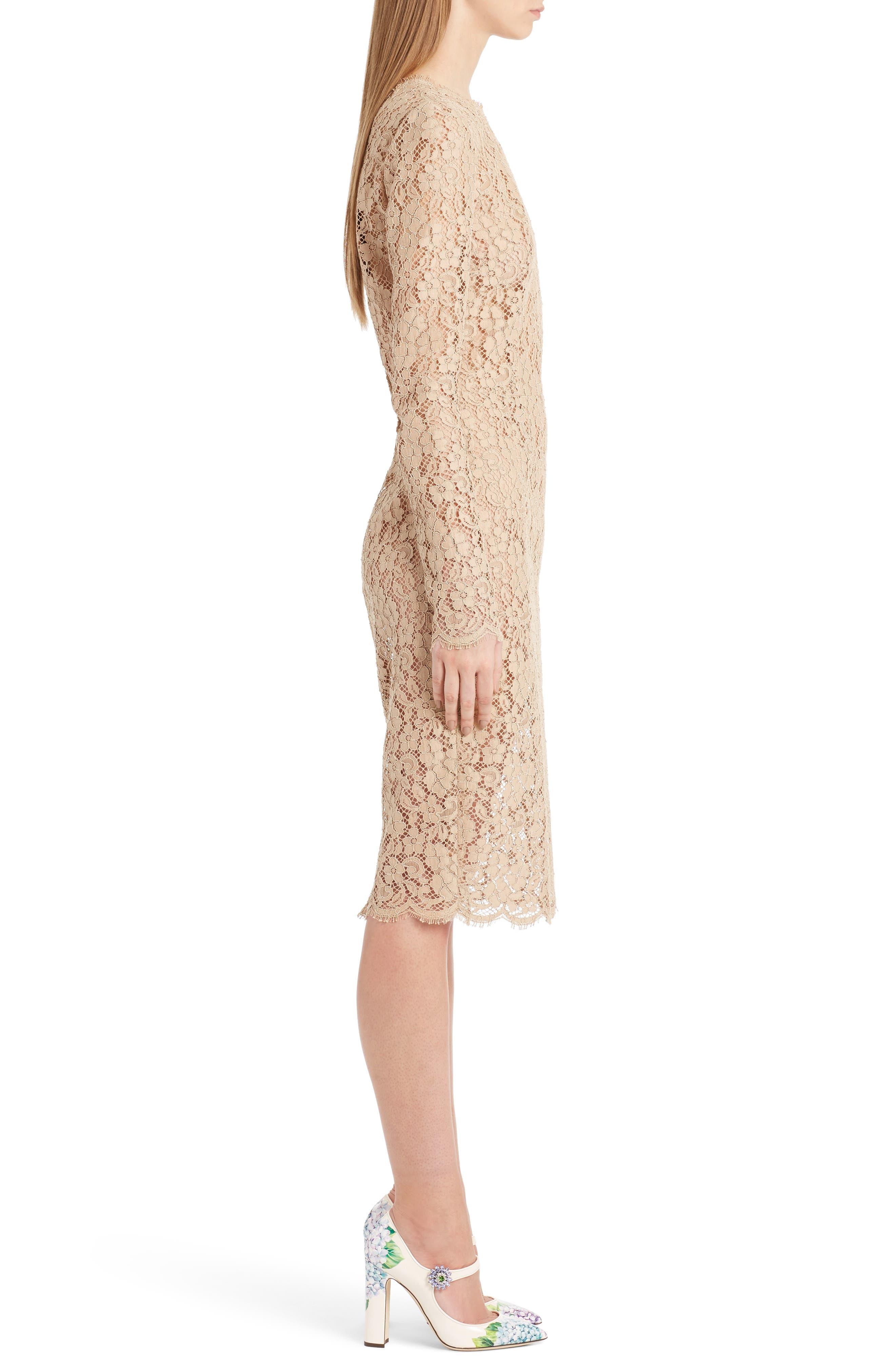 Lace Sheath Dress,                             Alternate thumbnail 3, color,