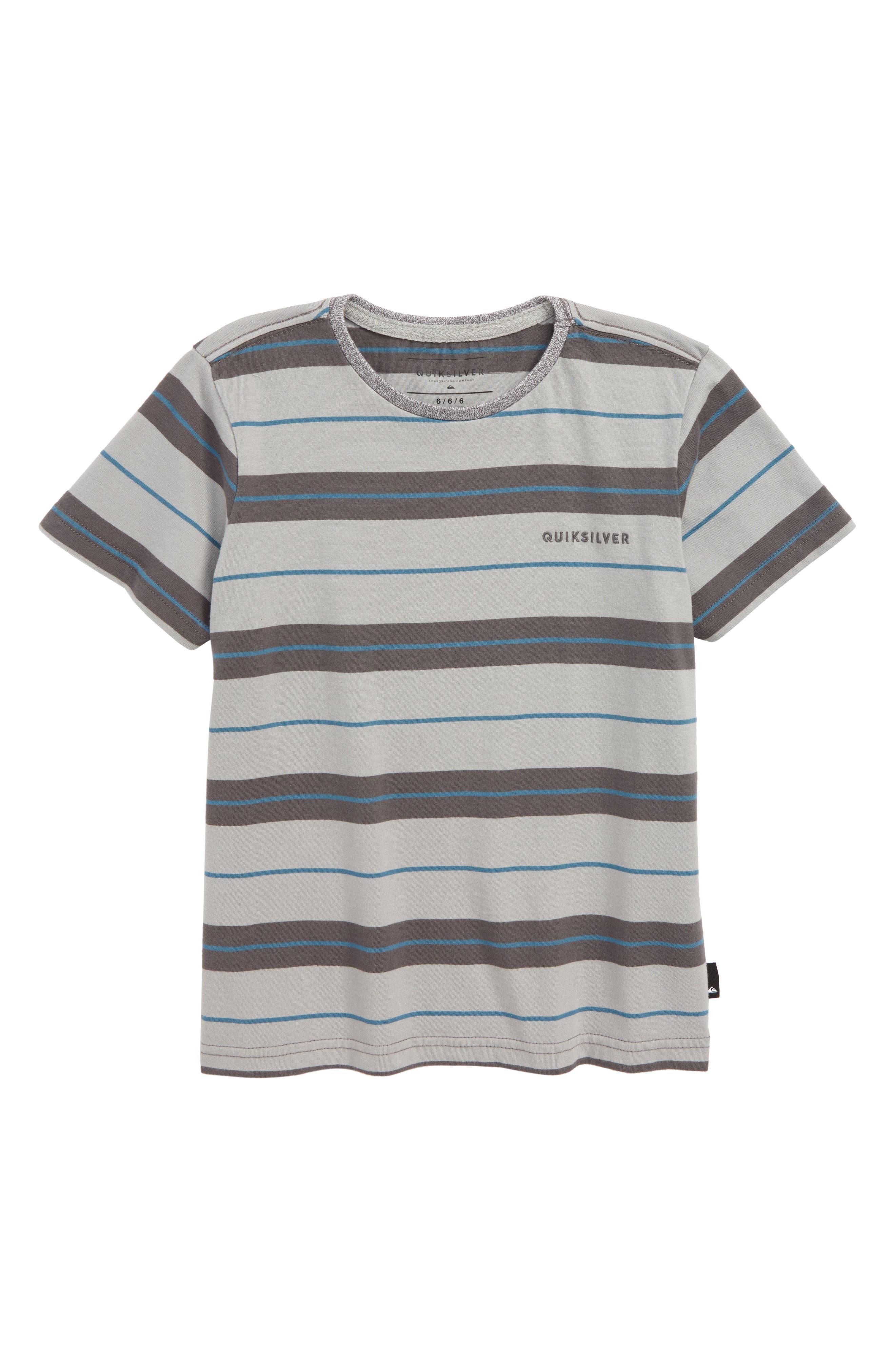 Dera Steps Stripe T-Shirt,                             Main thumbnail 1, color,                             IRON GATE