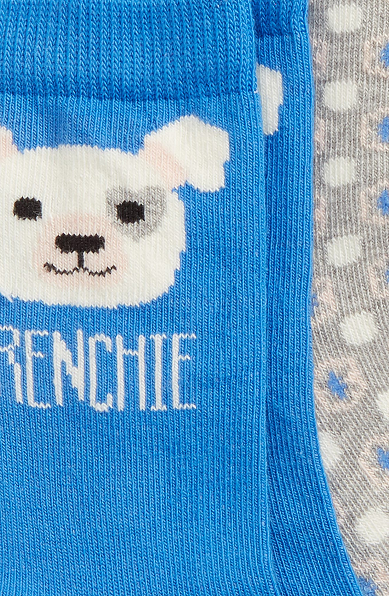 Frenchie 3-Pack Crew Socks,                             Alternate thumbnail 2, color,                             BLUE CAMP