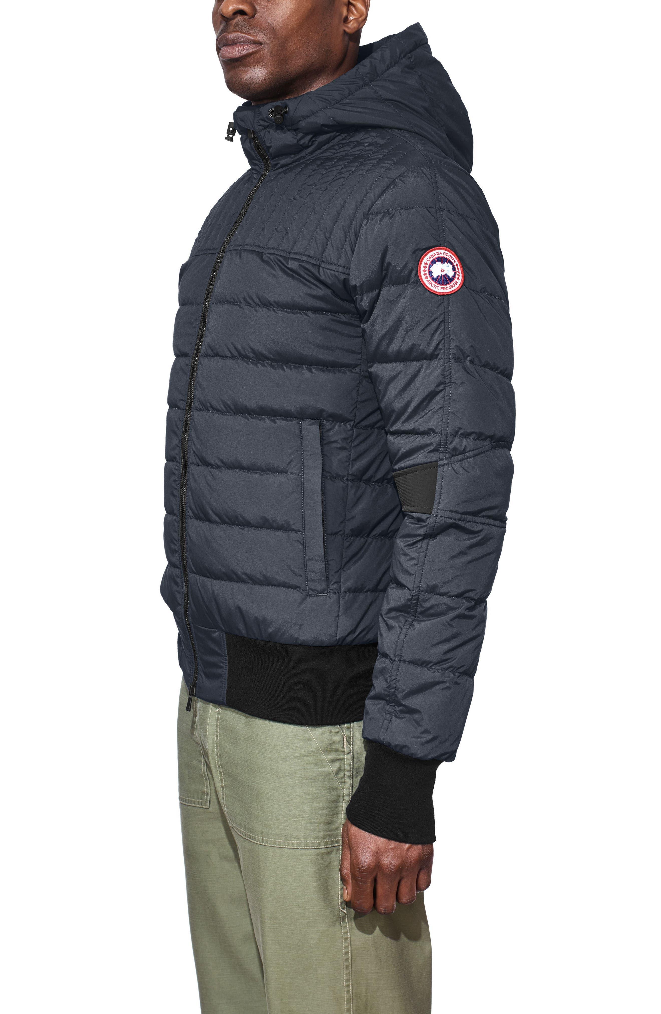 Cabri Hooded Slim Fit Down Jacket,                             Alternate thumbnail 3, color,                             POLAR SEA