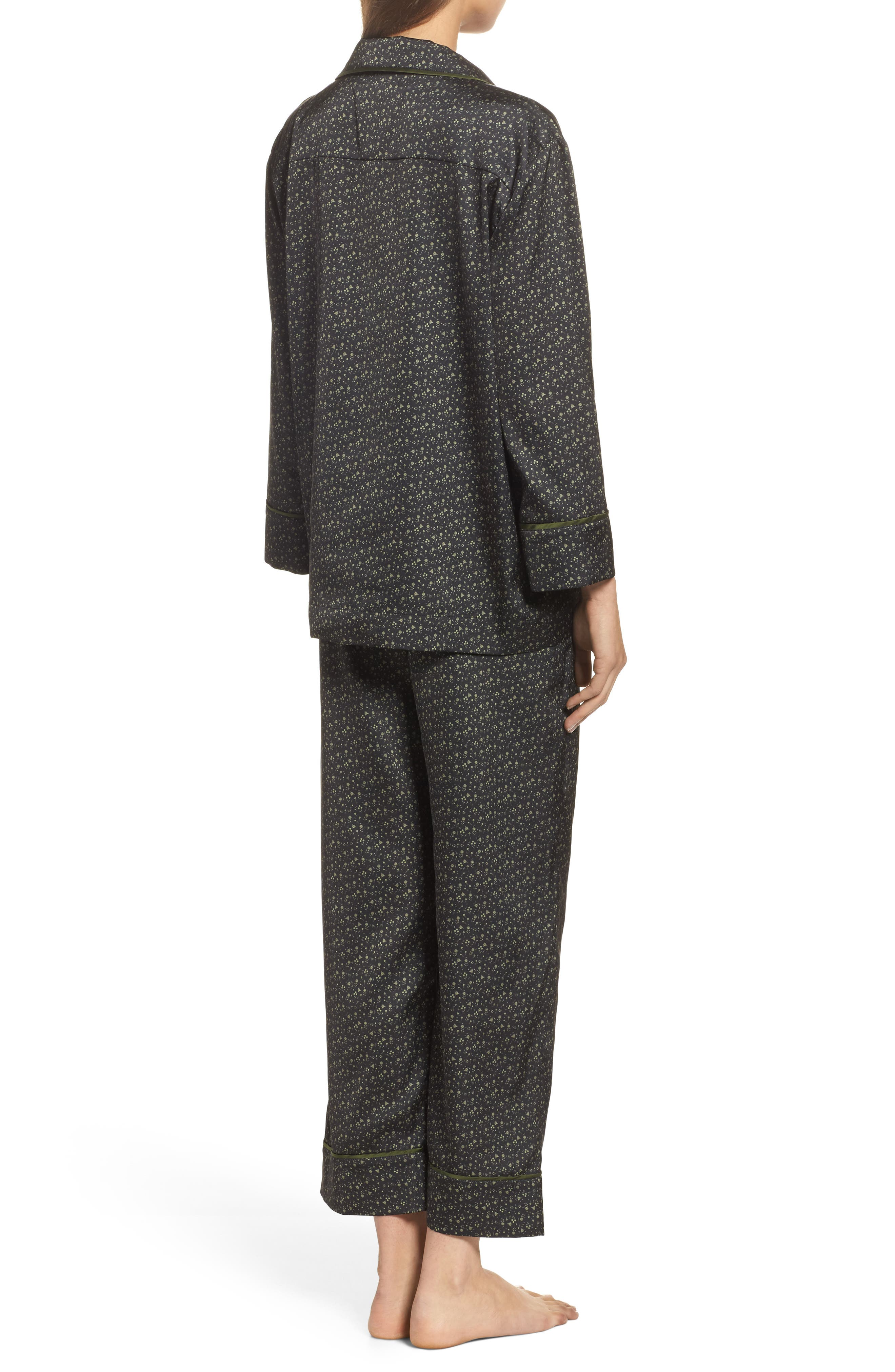 Satin Pajamas,                             Alternate thumbnail 2, color,                             002