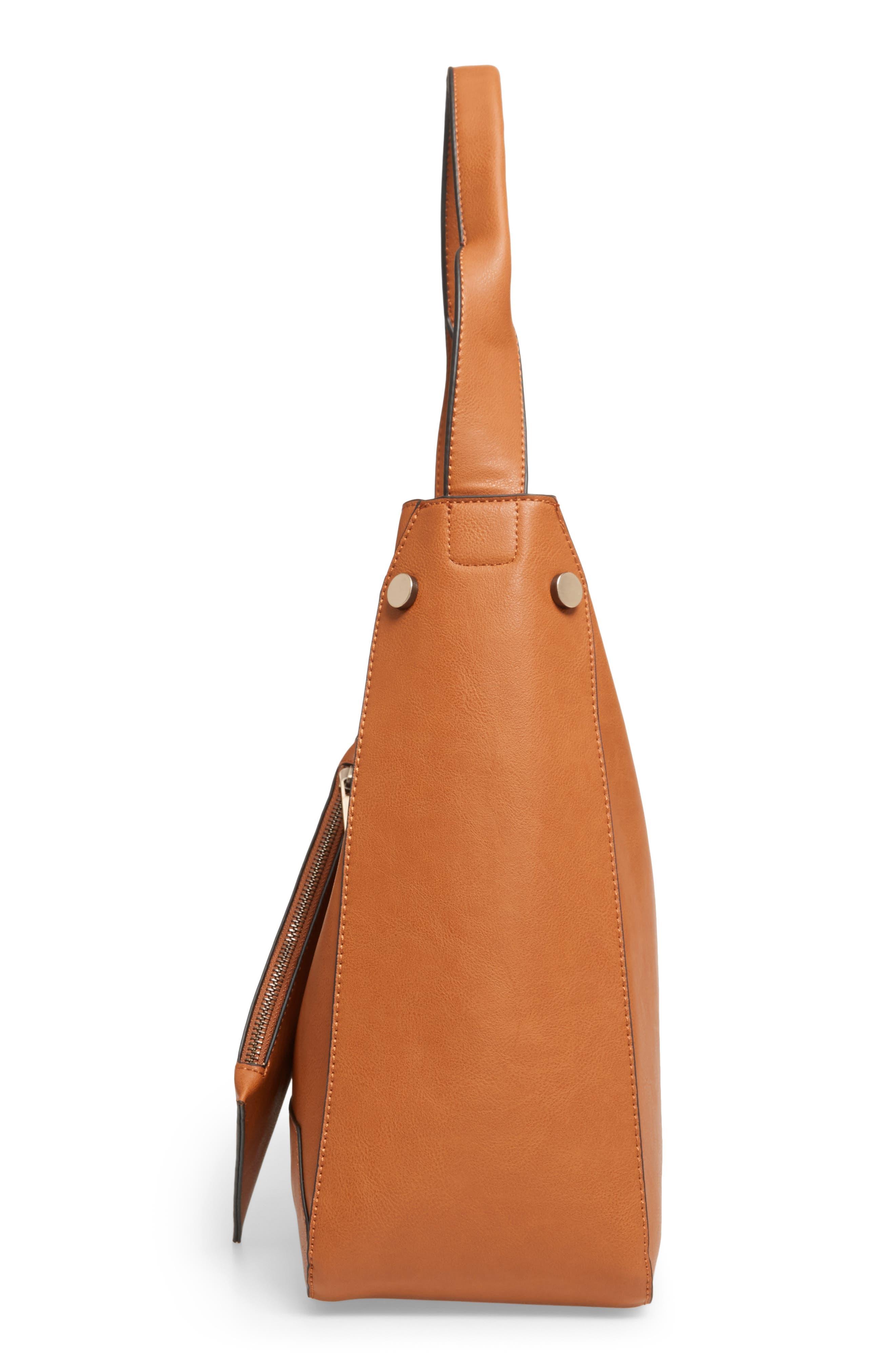 Alani Faux Leather Shoulder Bag,                             Alternate thumbnail 10, color,