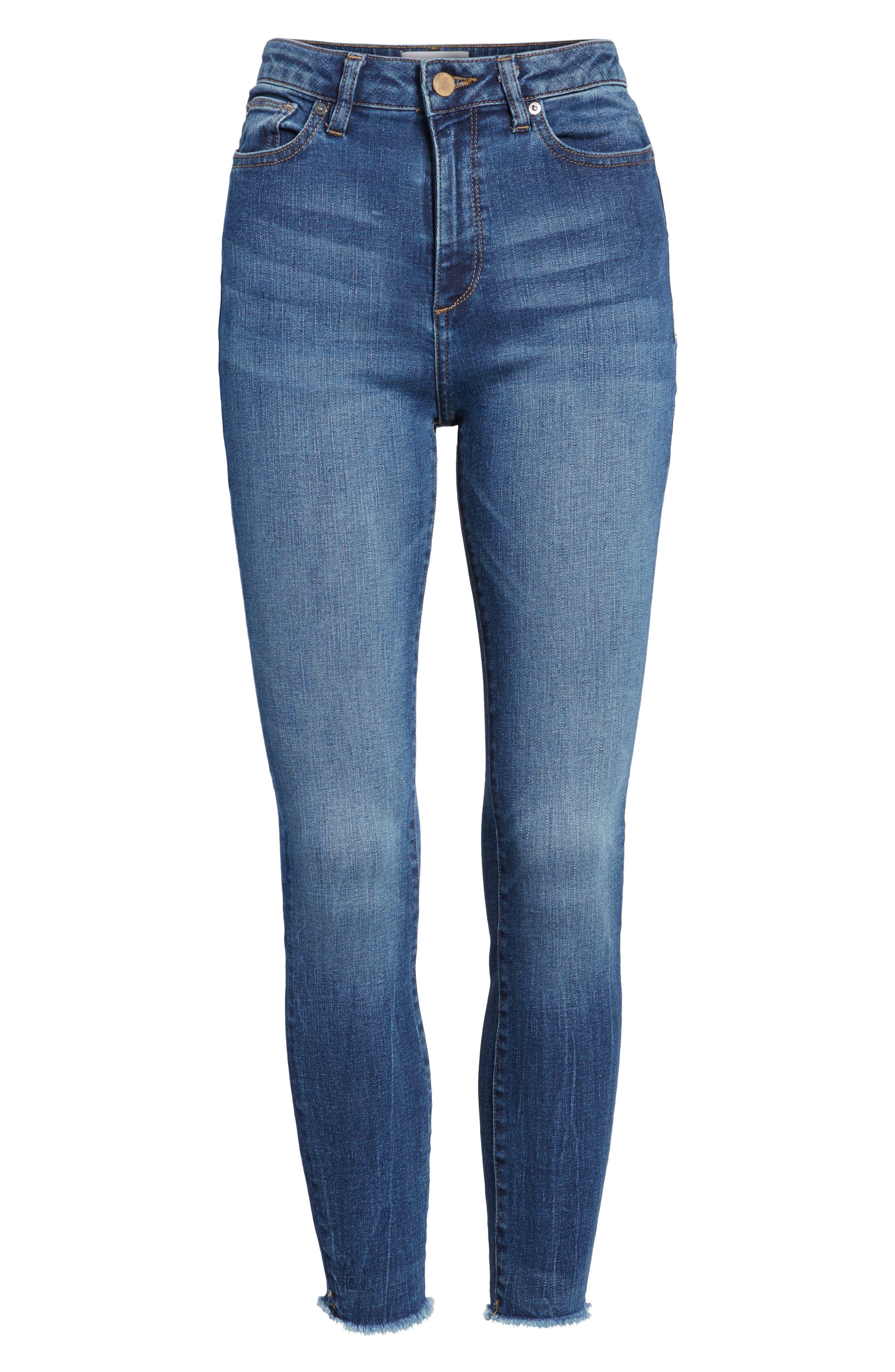 Chrissy Trimtone High Waist Skinny Jeans,                             Alternate thumbnail 6, color,                             425