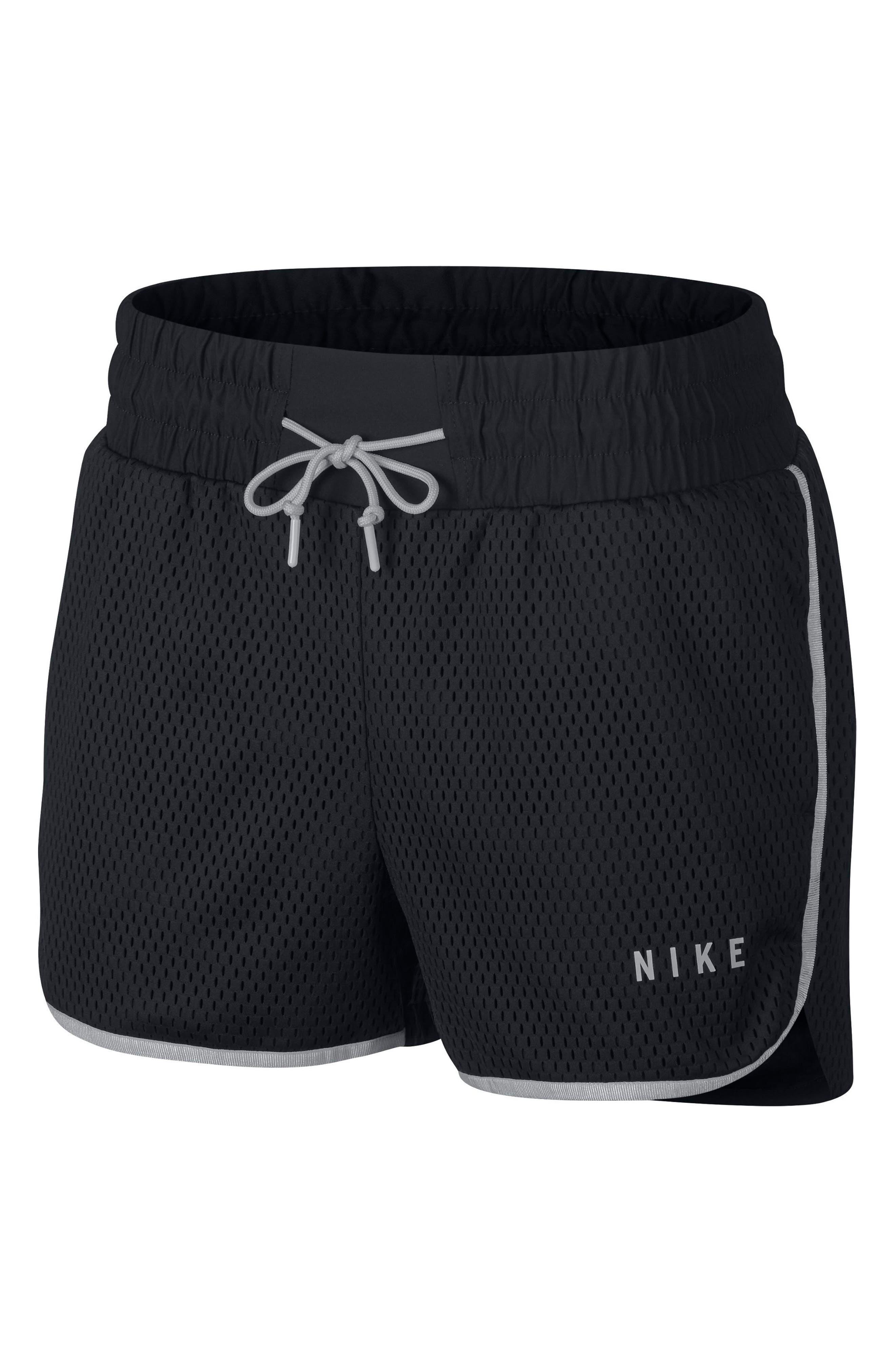 Sportswear Women's Dri-FIT Mesh Shorts,                             Alternate thumbnail 7, color,                             BLACK/ LIGHT BONE