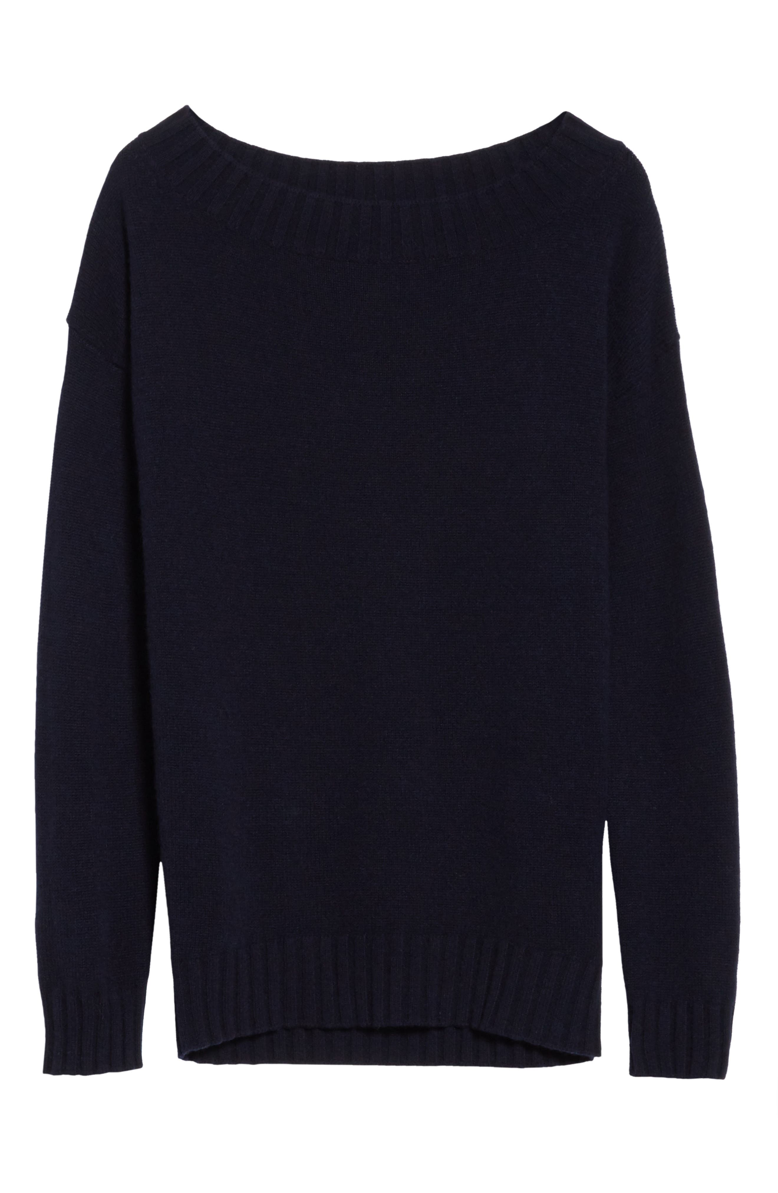 Off the Shoulder Wool & Cashmere Sweater,                             Alternate thumbnail 6, color,                             403