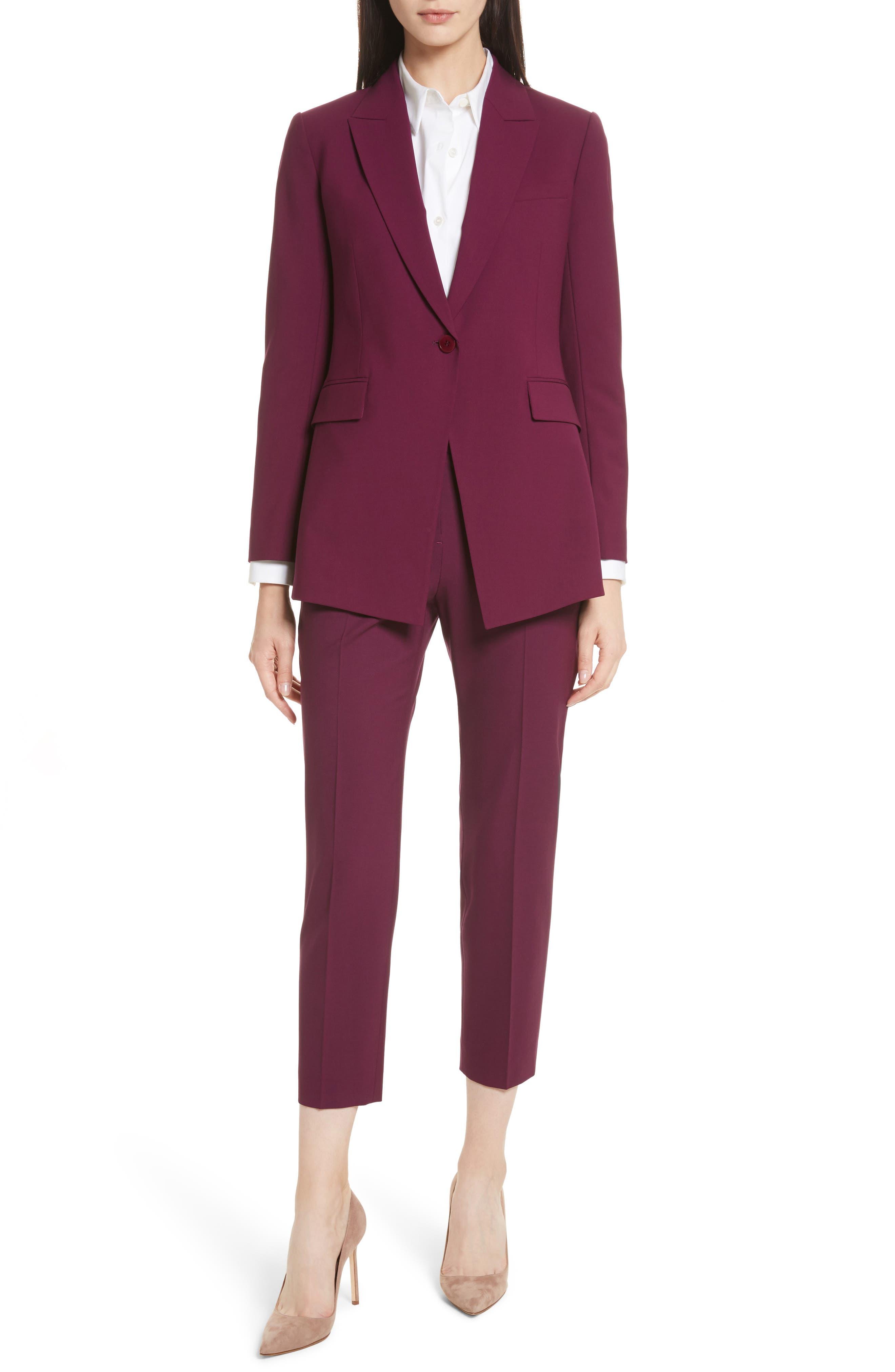 Etienette B Good Wool Suit Jacket,                             Alternate thumbnail 49, color,