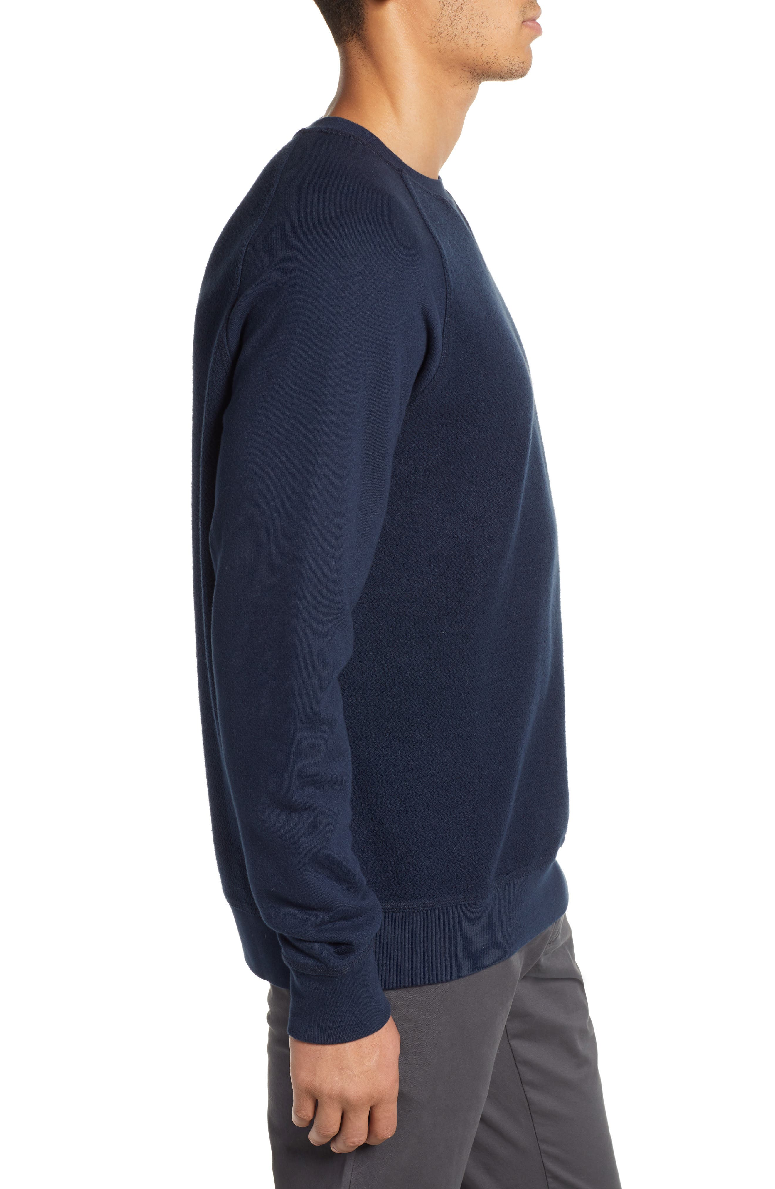 Cliff Cottage Fleece Pullover,                             Alternate thumbnail 3, color,                             TRUE NAVY