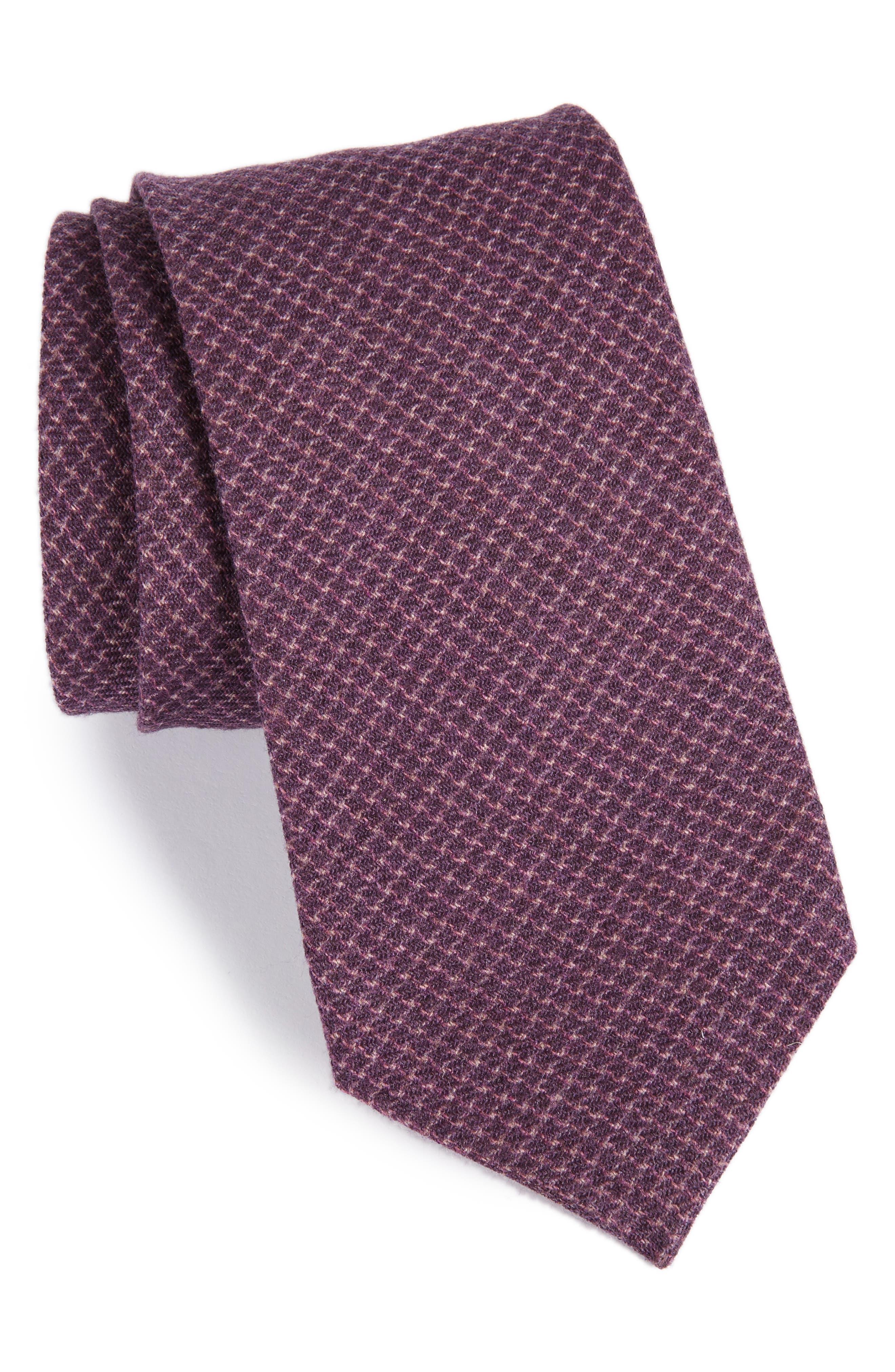 Geometric Wool Tie,                             Main thumbnail 3, color,