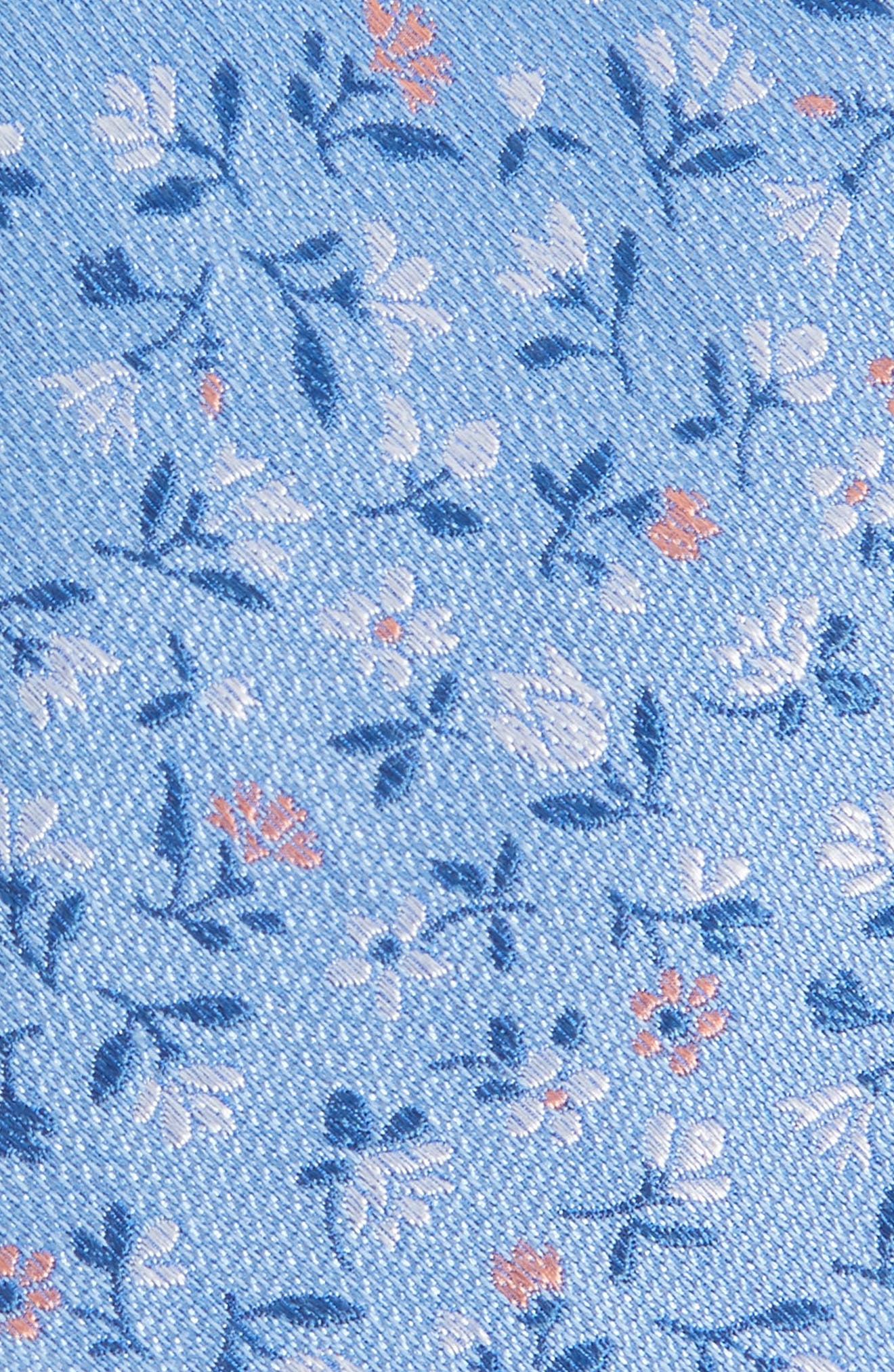 Flower Fields Silk & Cotton Tie,                             Alternate thumbnail 2, color,                             LIGHT BLUE