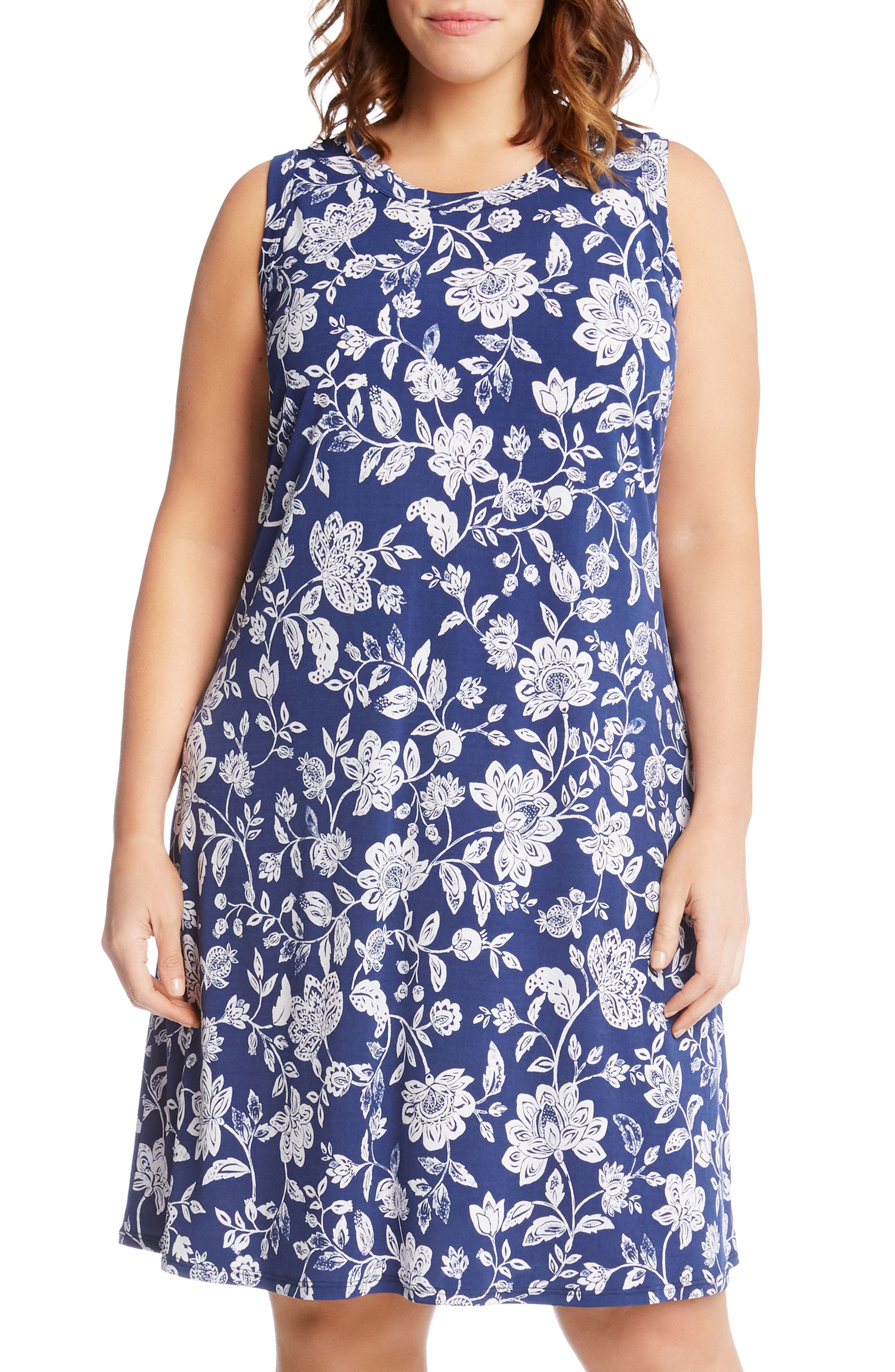 Floral Sleeveless Dress,                             Alternate thumbnail 3, color,                             400