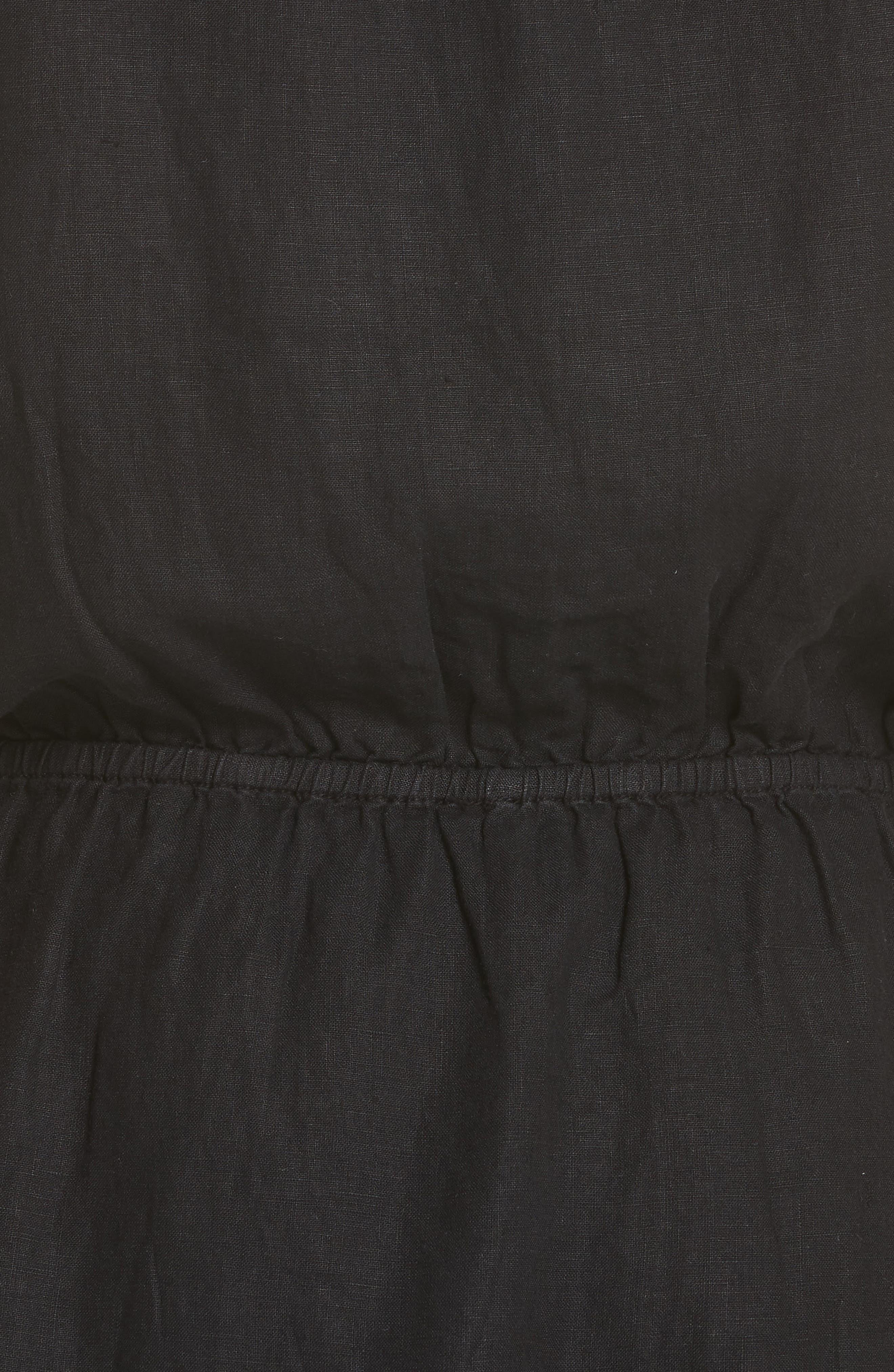 Quora Ruffle Linen Dress,                             Alternate thumbnail 9, color,