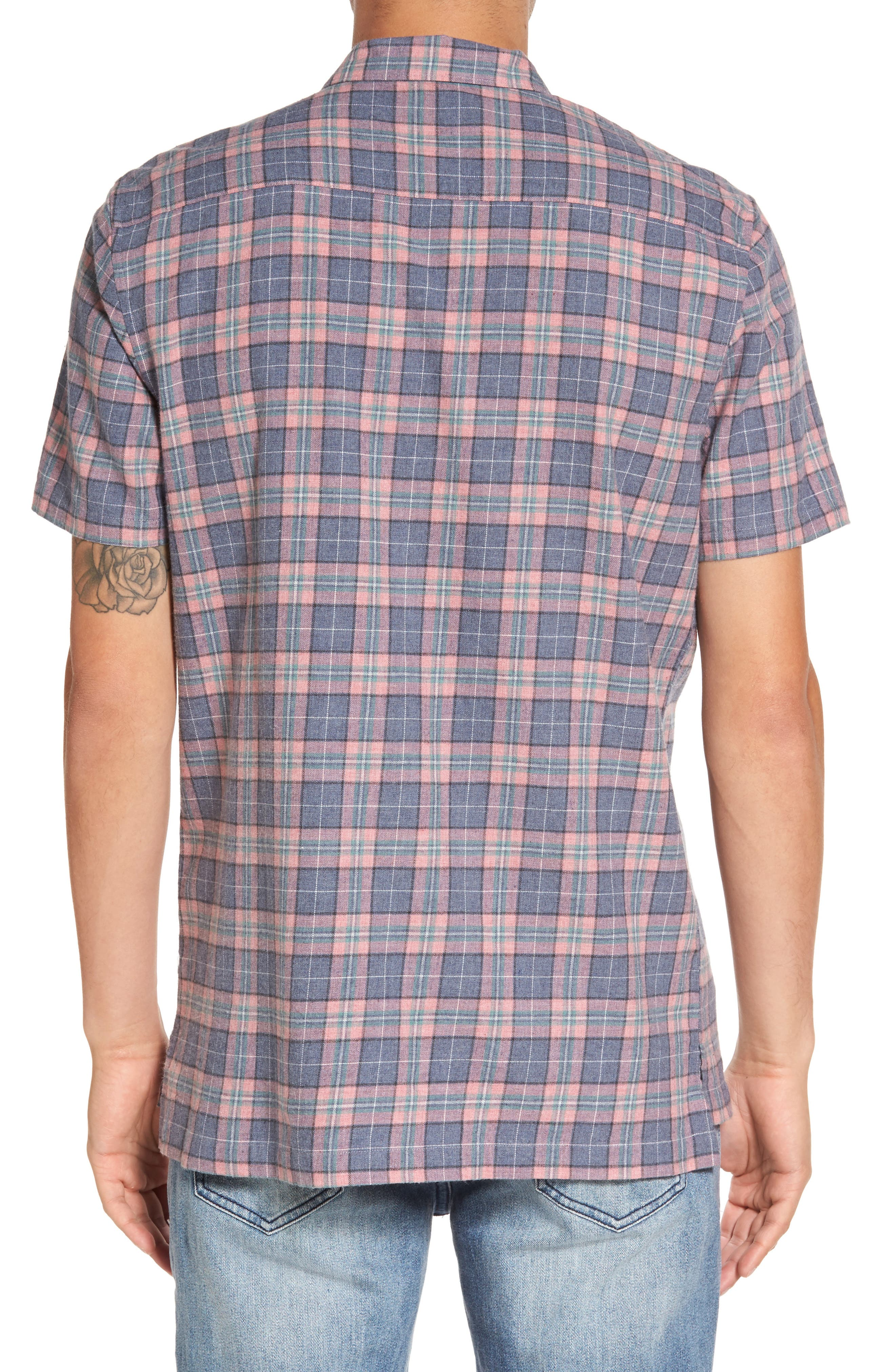 Florida Short Sleeve Plaid Shirt,                             Alternate thumbnail 2, color,                             450