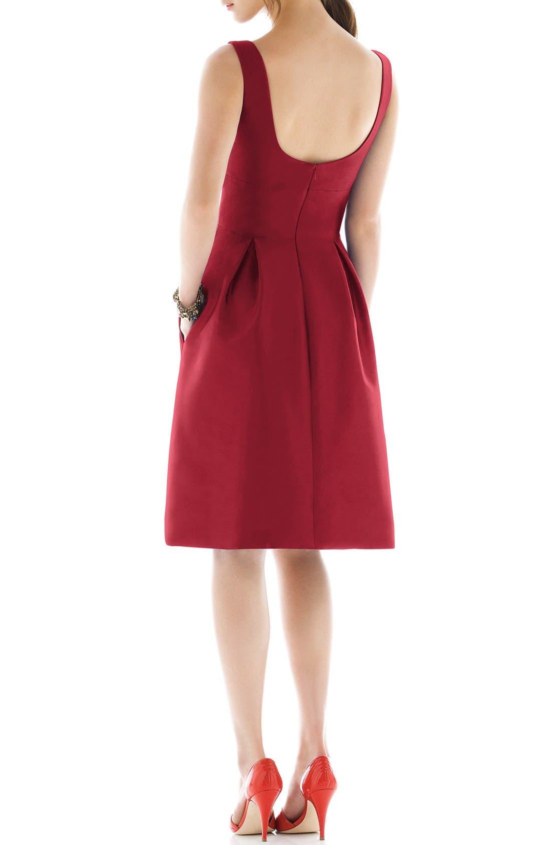 Dupioni Fit & Flare Dress,                             Alternate thumbnail 22, color,