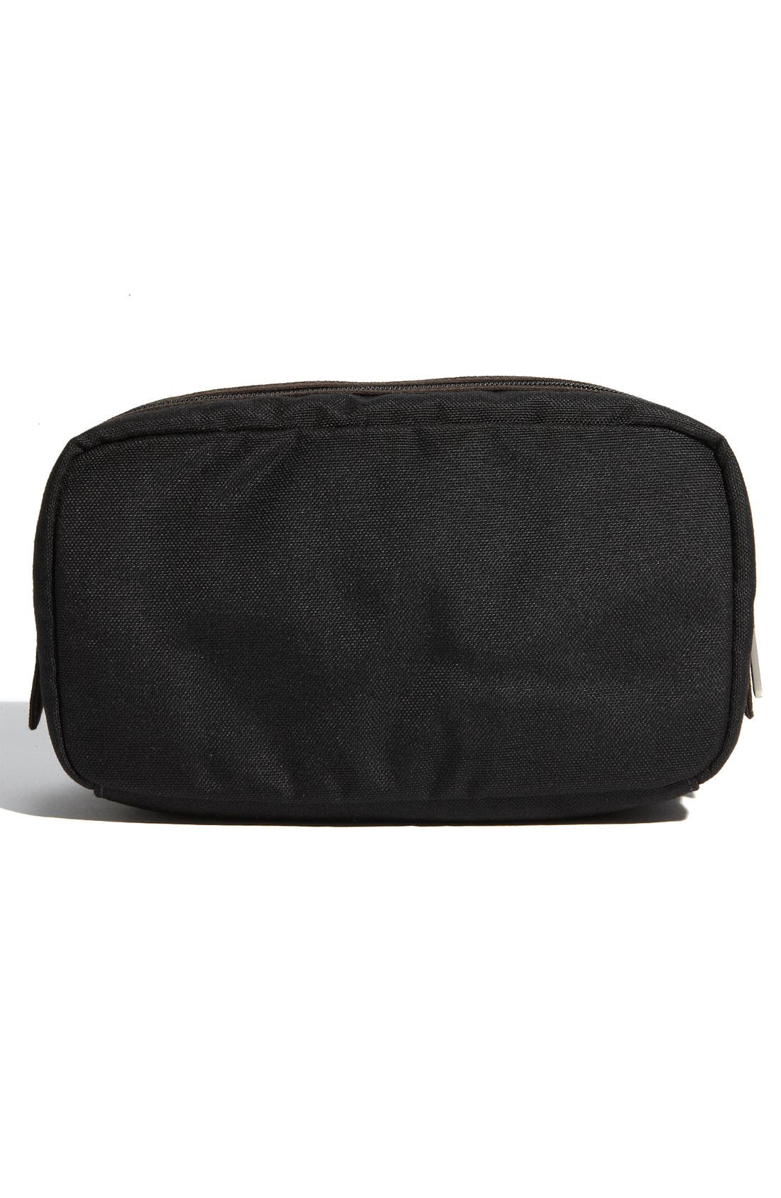 'Trad' Nylon Canvas Toiletry Bag,                             Alternate thumbnail 4, color,                             001