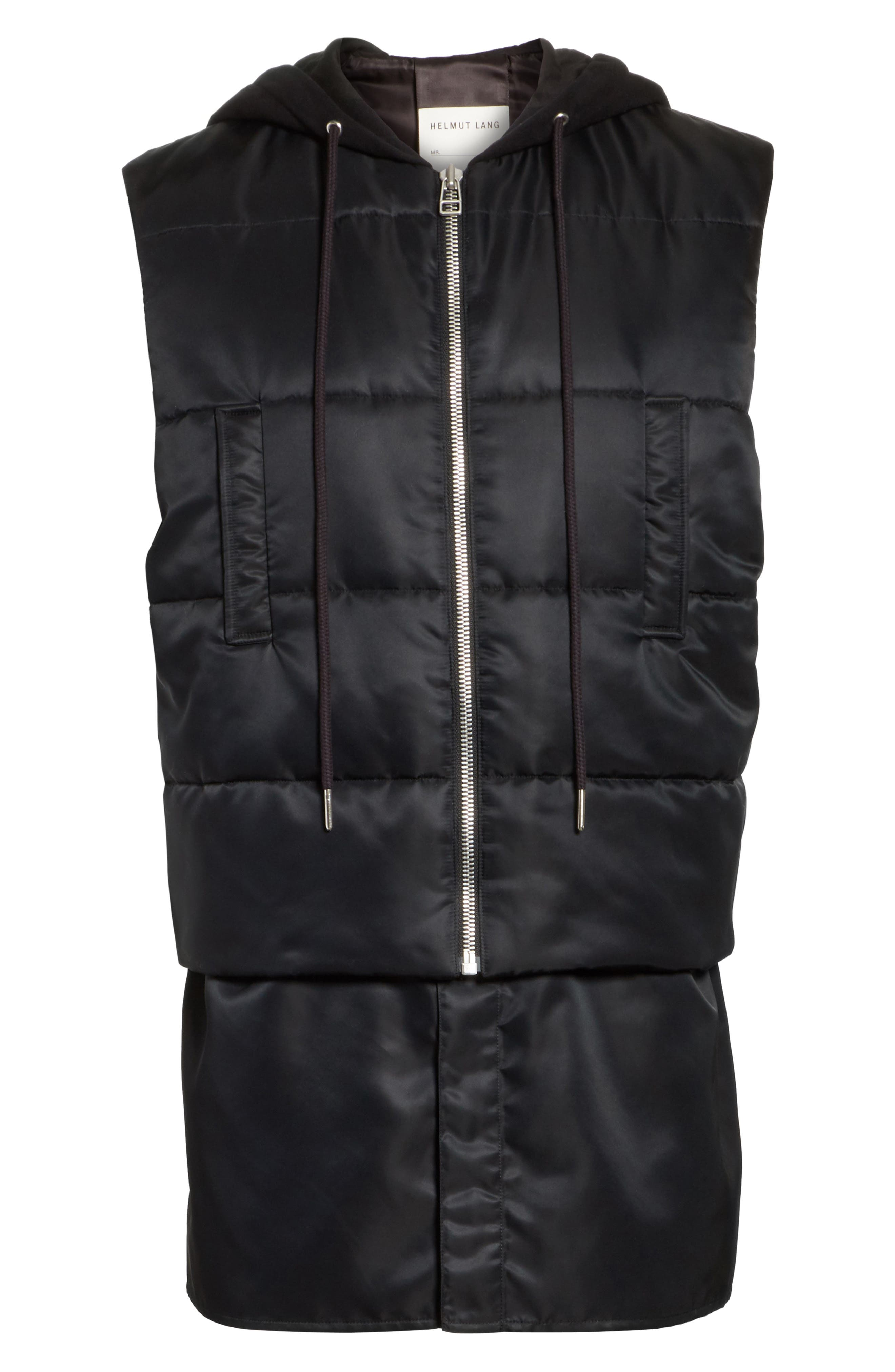 Hooded Puffer Vest,                             Alternate thumbnail 5, color,                             001
