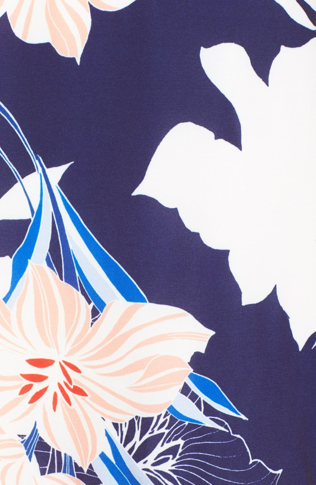 Floral Jersey Shift Dress,                             Alternate thumbnail 4, color,                             410