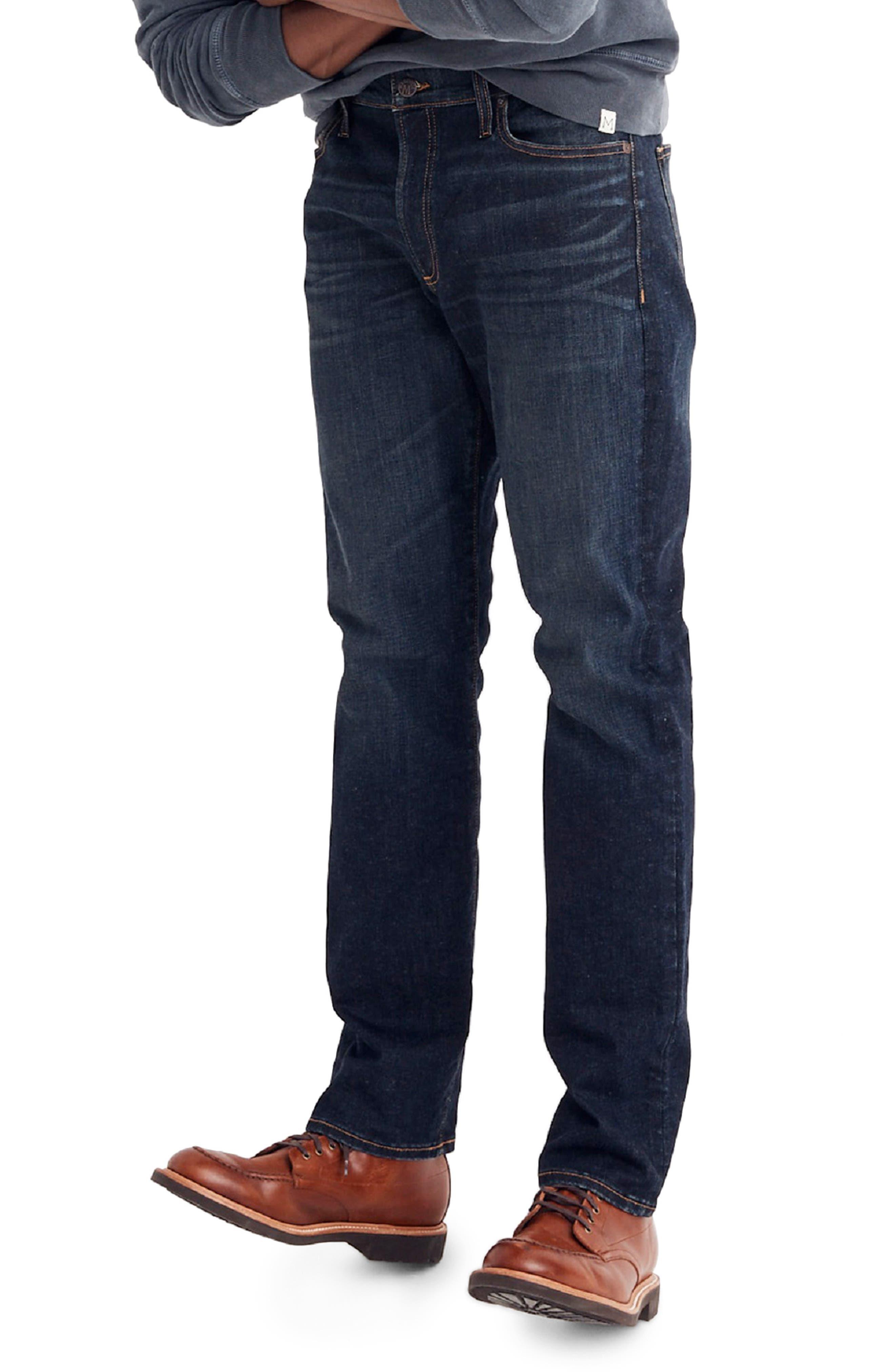 Slim Straight Fit Jeans,                             Alternate thumbnail 3, color,                             BRENFORD