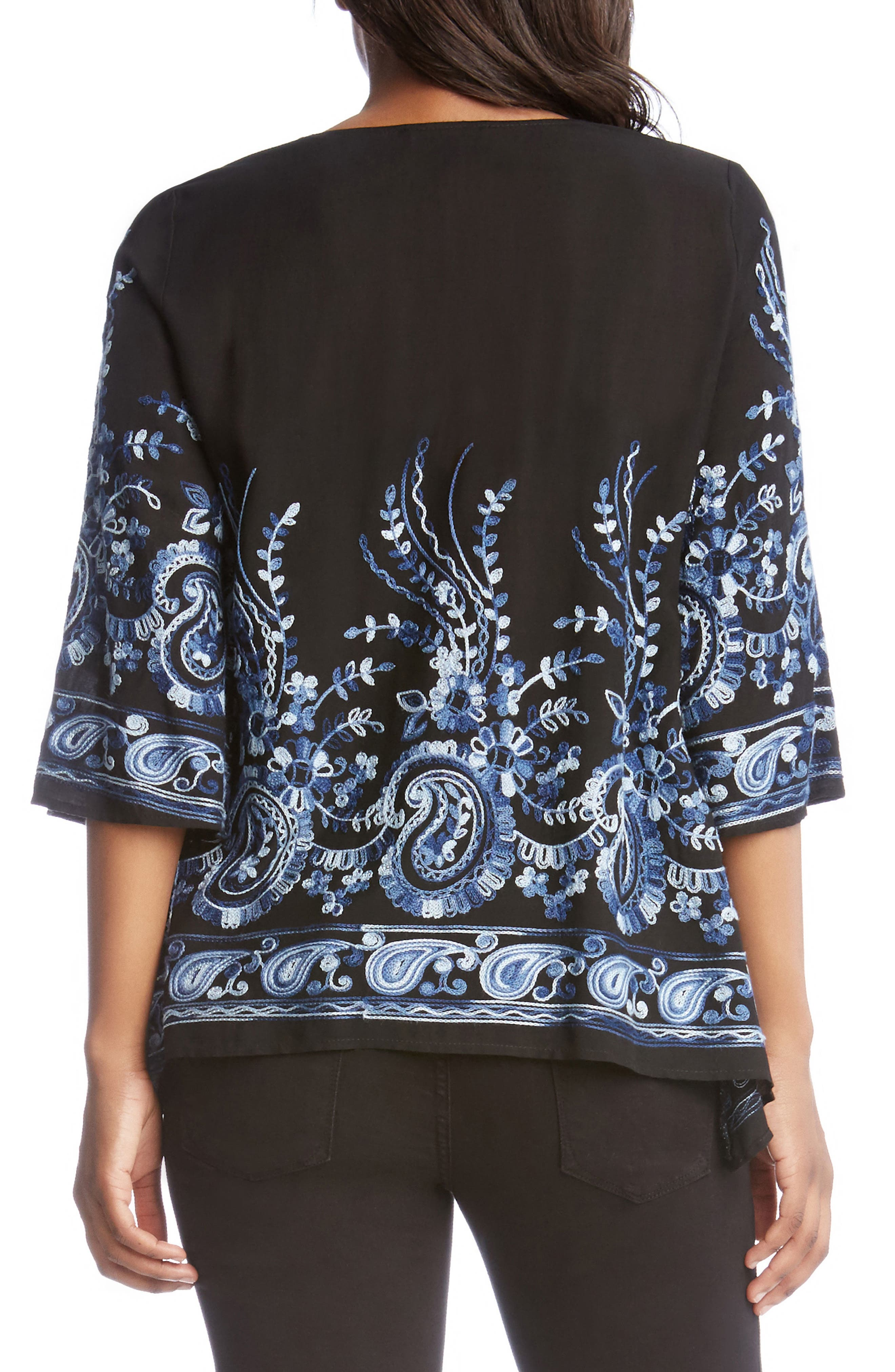 Paisley Embroidery Top,                             Alternate thumbnail 2, color,                             400