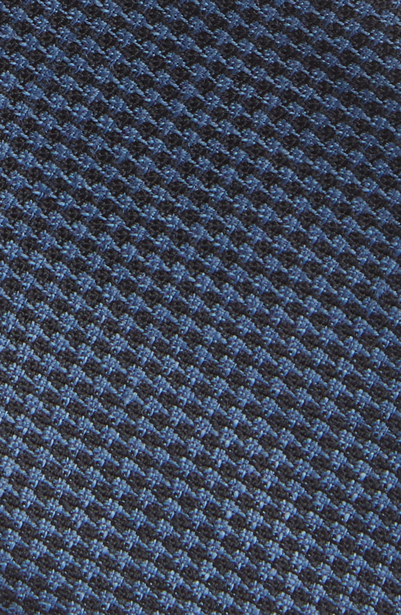 Grid Wool & Linen Tie,                             Alternate thumbnail 2, color,                             LIGHT BLUE