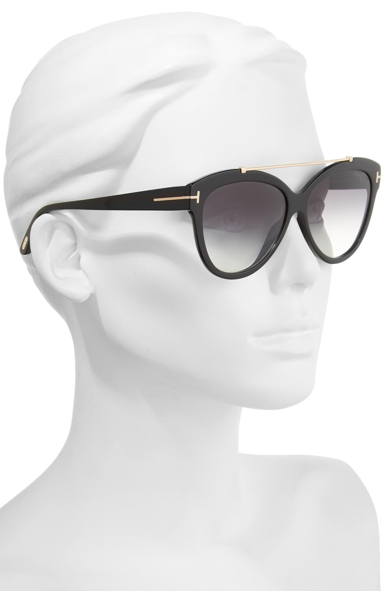 Livia 58mm Gradient Butterfly Sunglasses,                             Alternate thumbnail 2, color,                             001