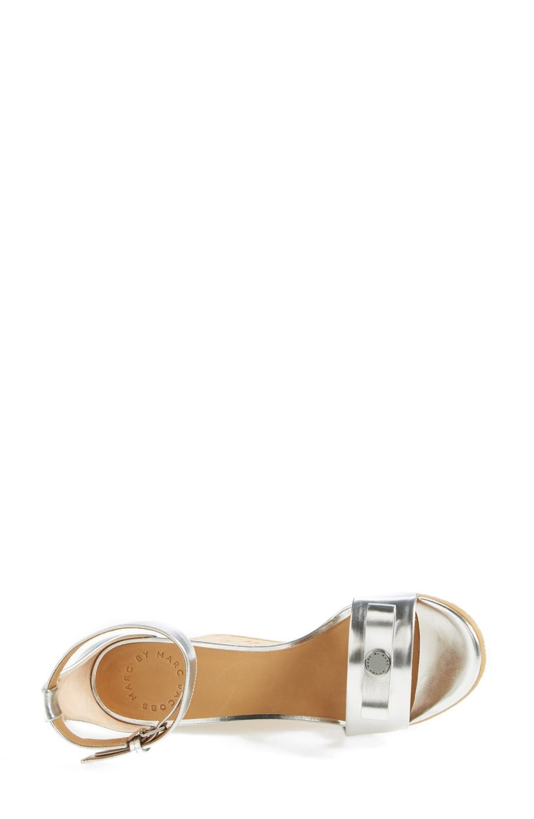 MARC BY MARC JACOBS 'Logo Disc' Sandal,                             Alternate thumbnail 3, color,                             040
