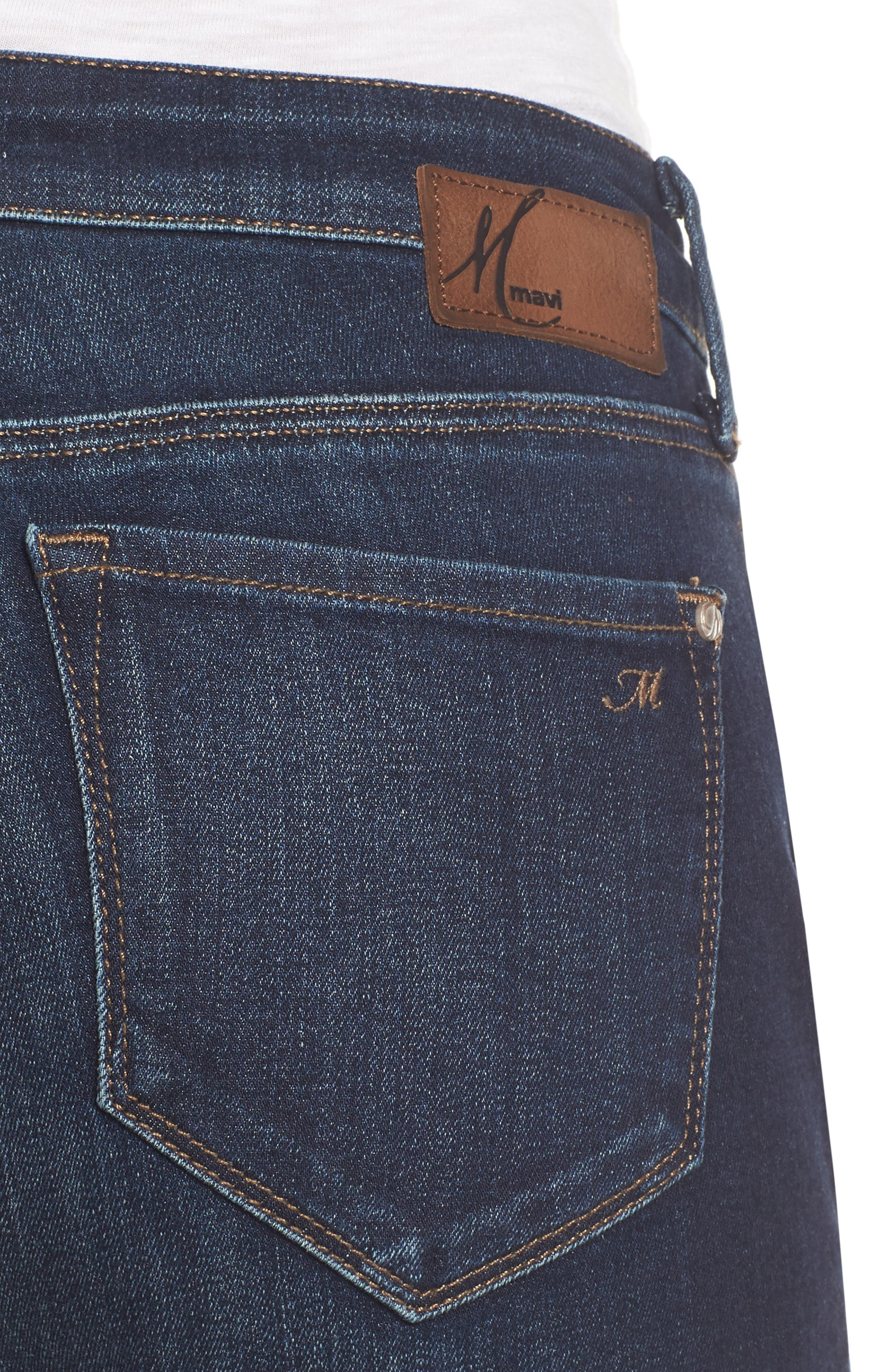 Ada Boyfriend Jeans,                             Alternate thumbnail 4, color,                             INDIGO BRUSHED