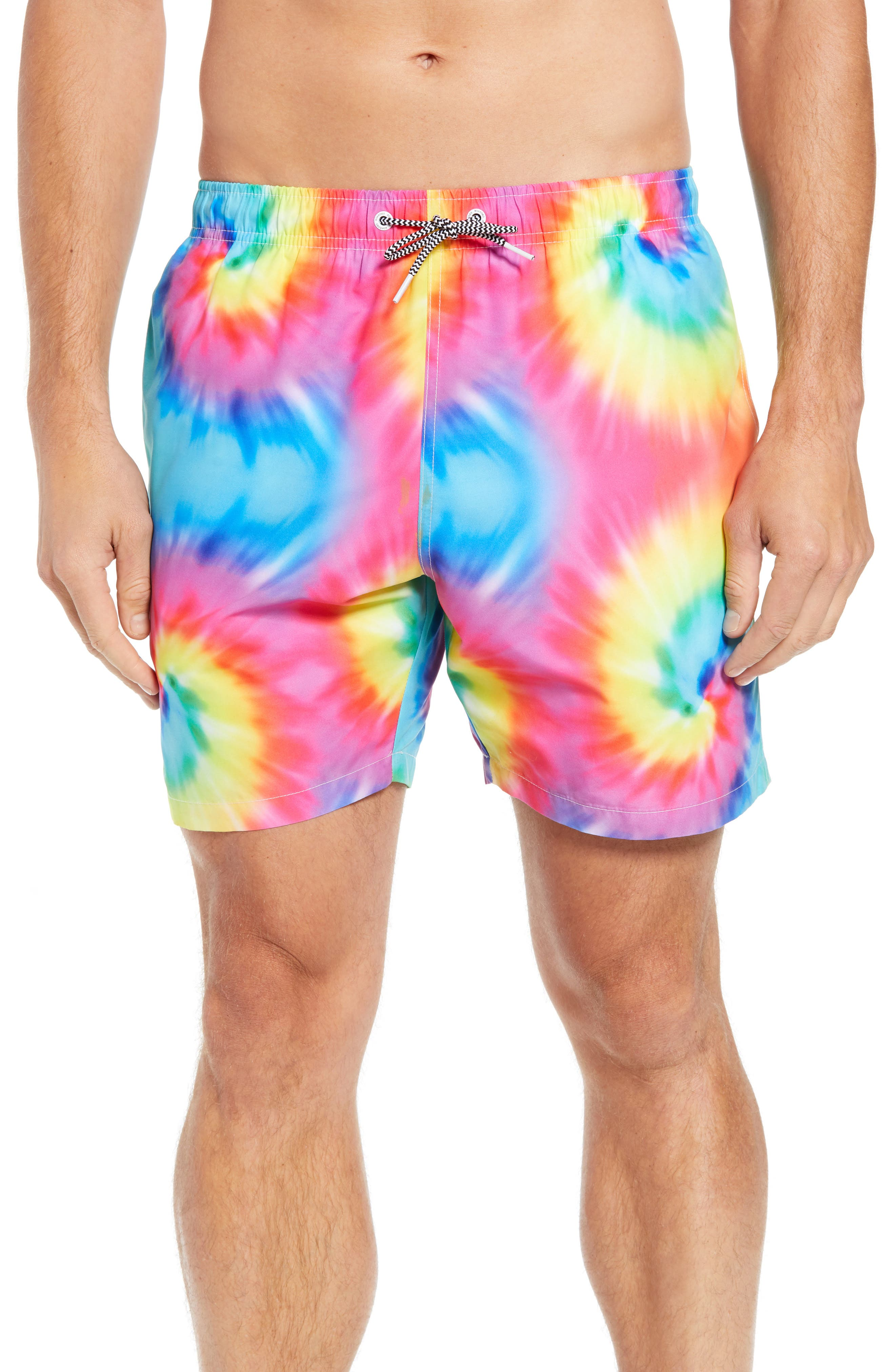 Tie Dye Swim Trunks,                         Main,                         color, 400